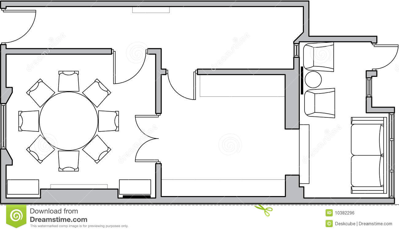 Architecture floor plan royalty free stock image image 10382296 - Architecture plans of bedroom flat ...