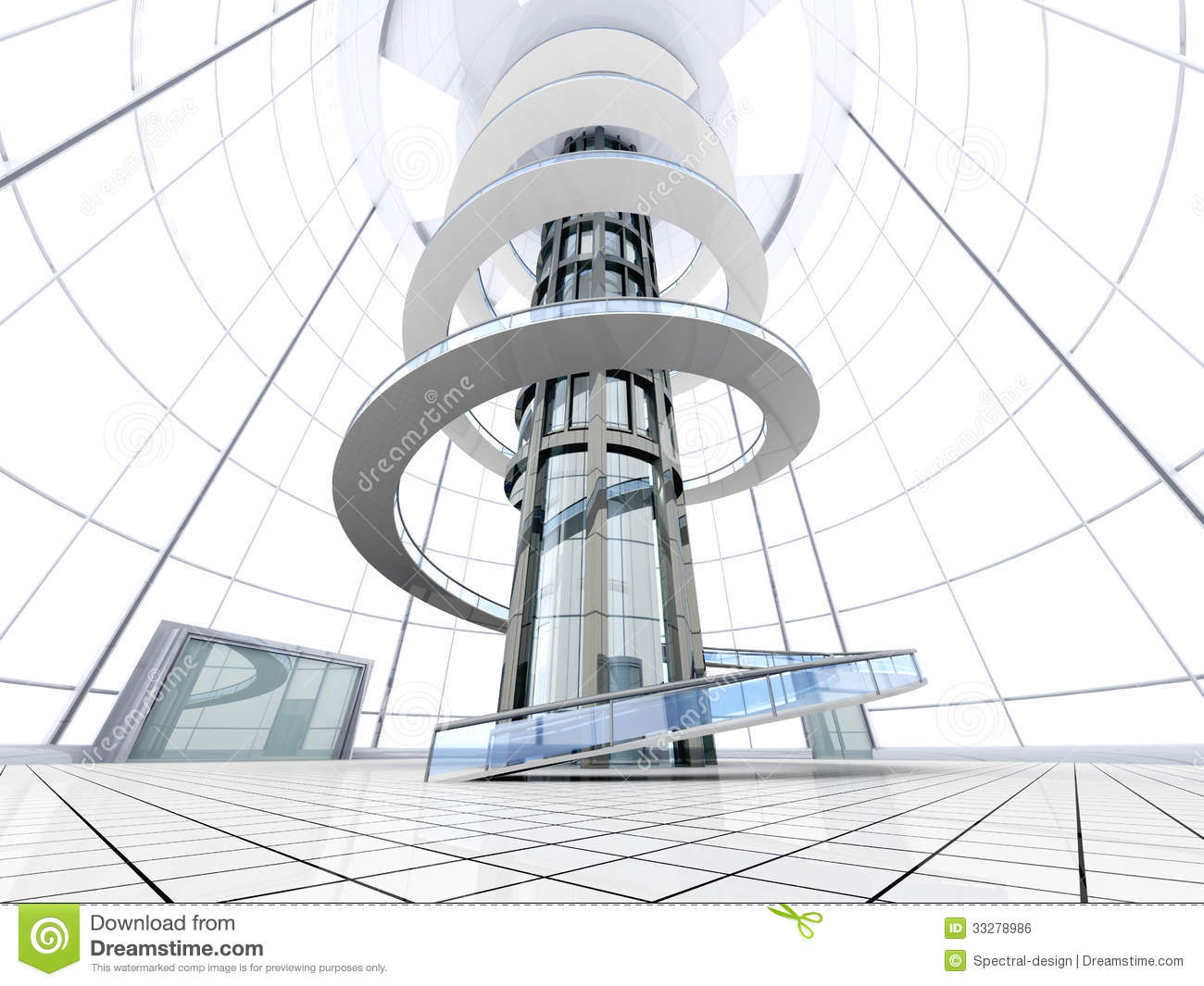 Architecture futuriste illustration stock illustration du for Architecture de plan libre