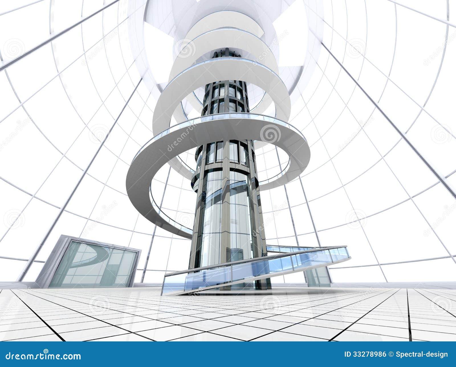 Architecture futuriste image libre de droits image 33278986 for Architecture futuriste