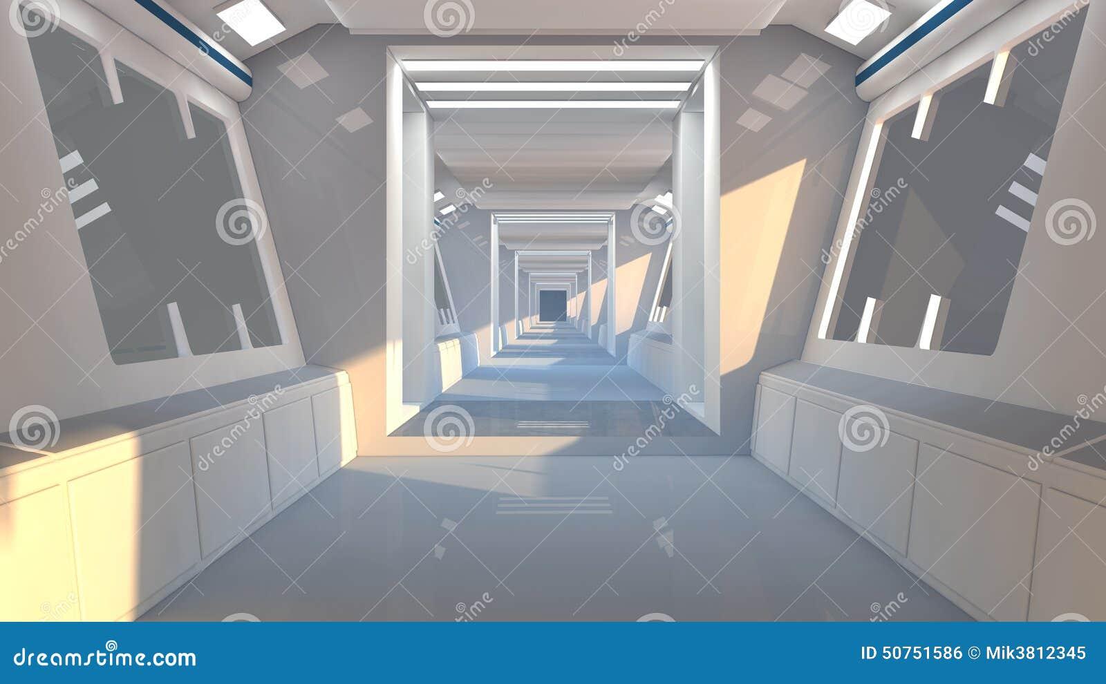 architecture futuriste d 39 int rieur de scifi illustration stock image 50751586. Black Bedroom Furniture Sets. Home Design Ideas