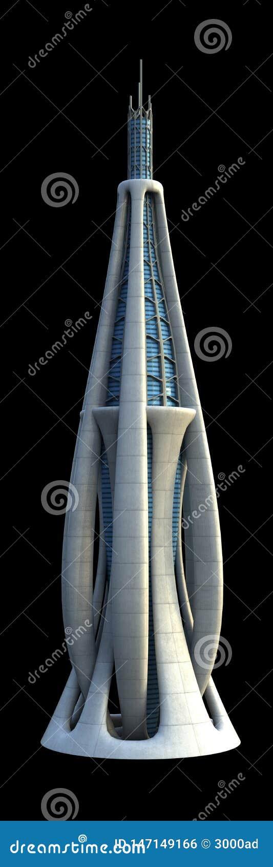 Architecture futuriste de ville
