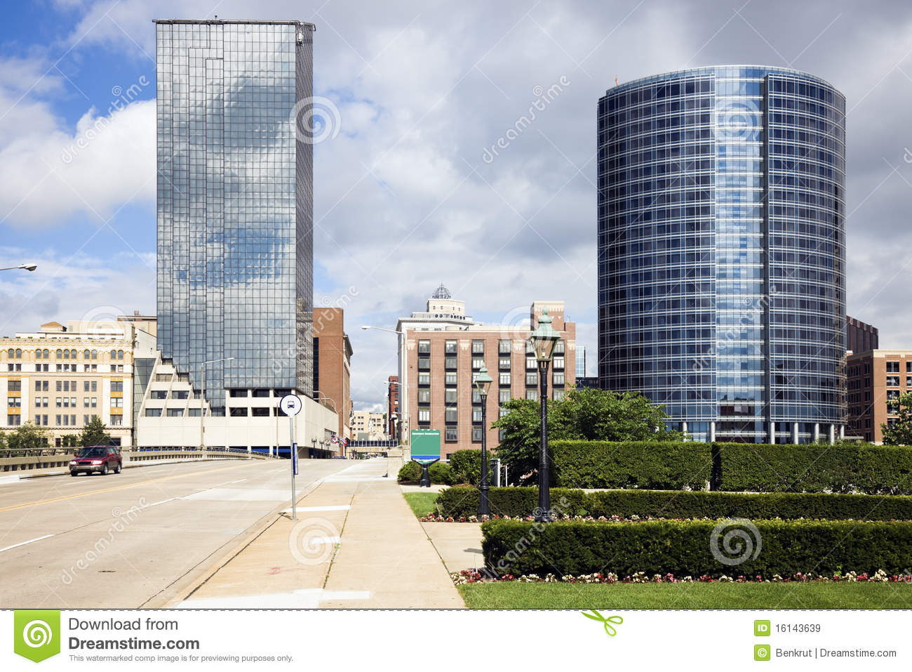 Architecture Of Grand Rapids Royalty Free Stock Images