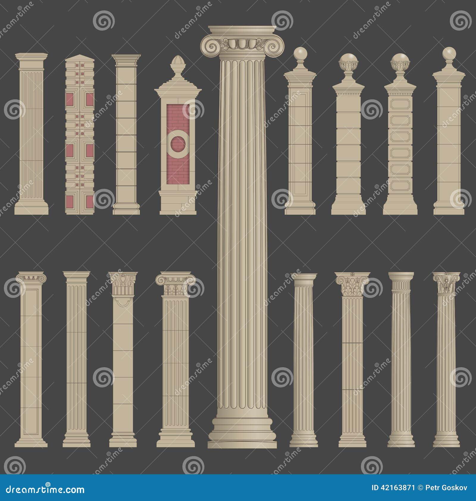 Architecture grecque romaine de colonne de pilier for Architecture grecque