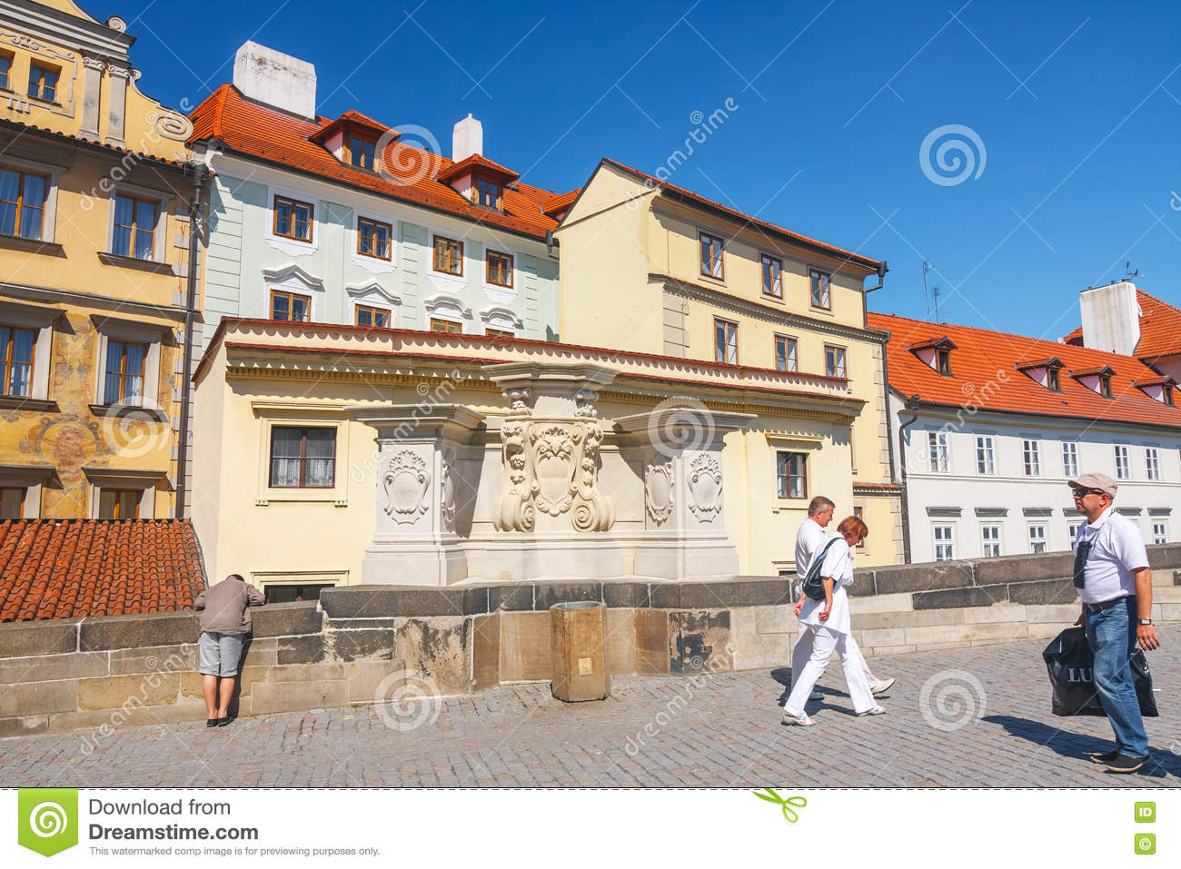 Architecture In Historical Center Of Prague. Prague Is The ...