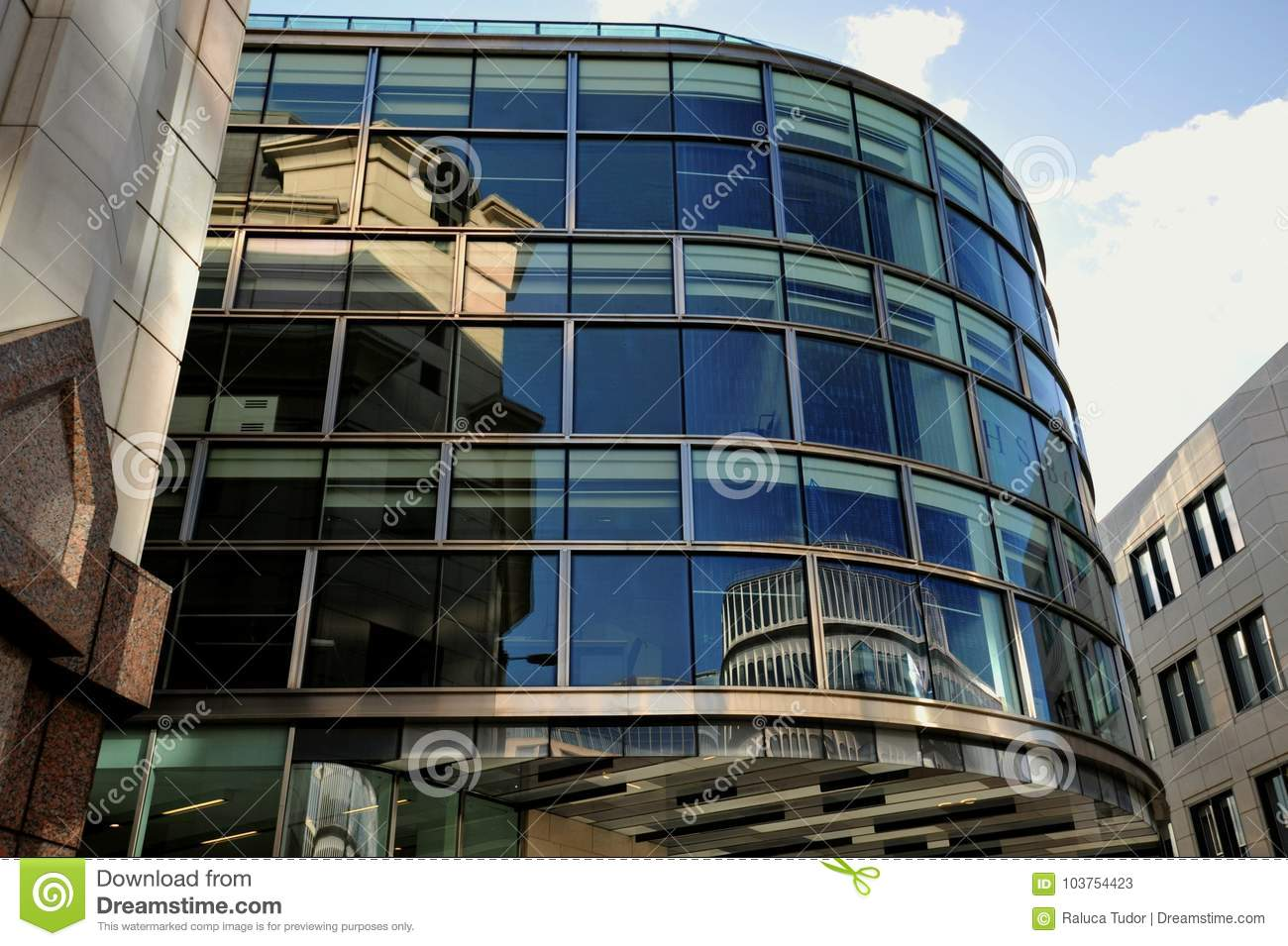 Architecture Of Hsbc Bank Building In London Editorial Stock