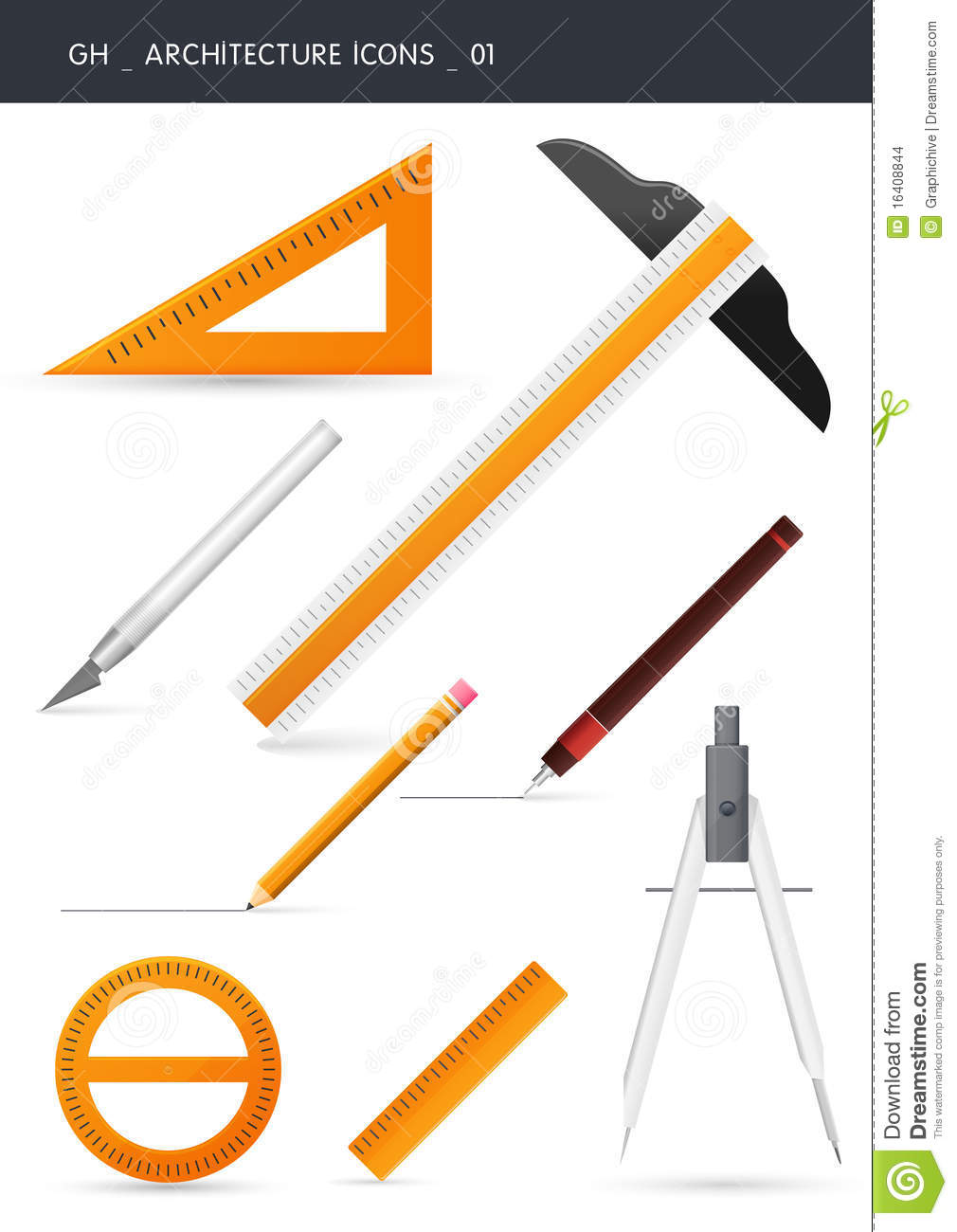 Architecture Icons 01 Stock Images Image 16408844