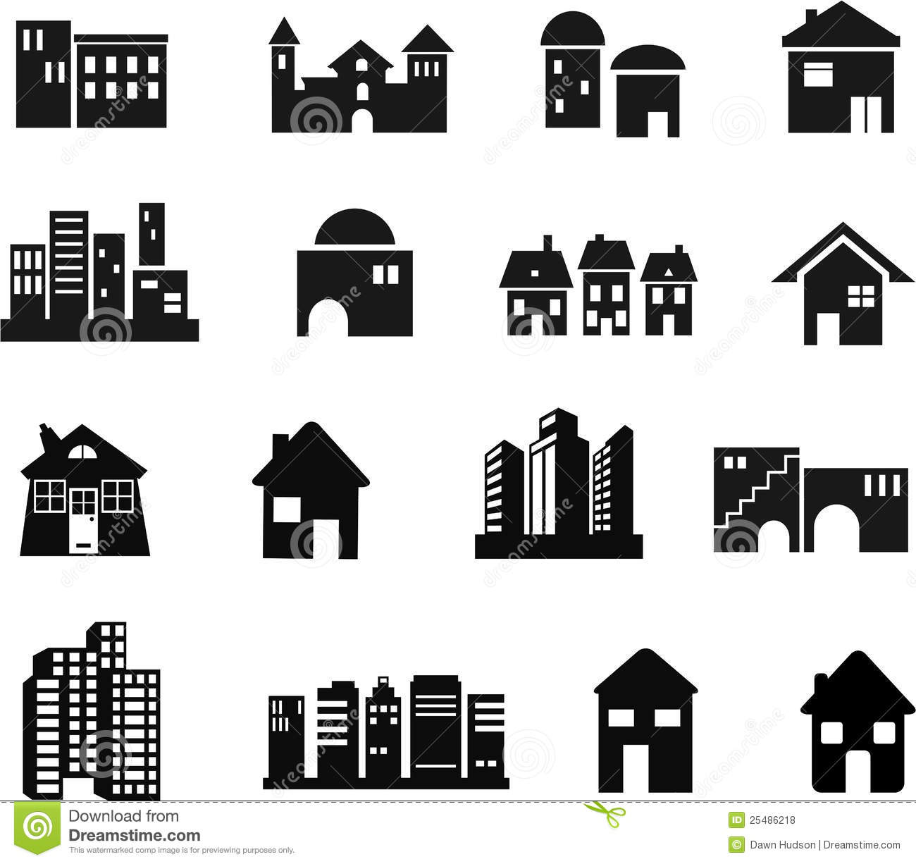 free clipart cottages