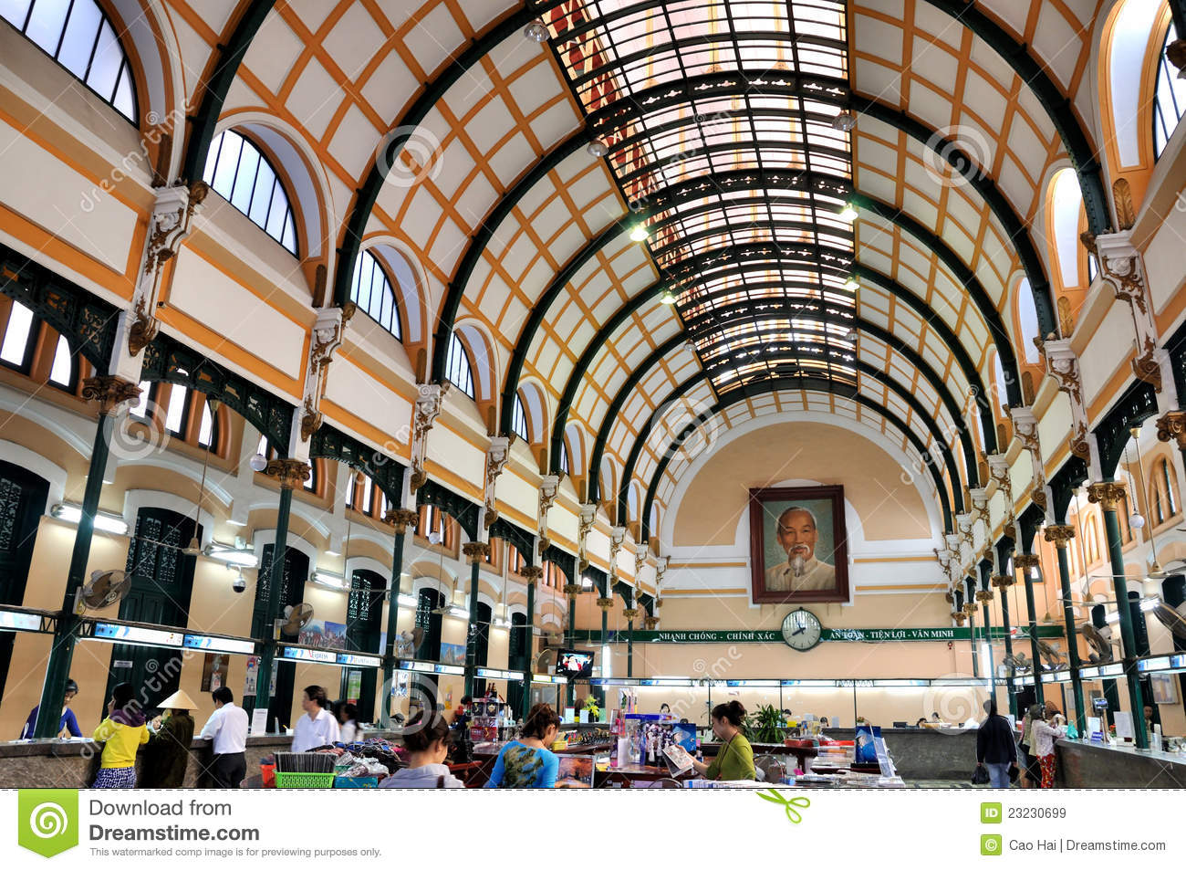 Architecture inside of saigon post office vietnam for Architecture poste a poste