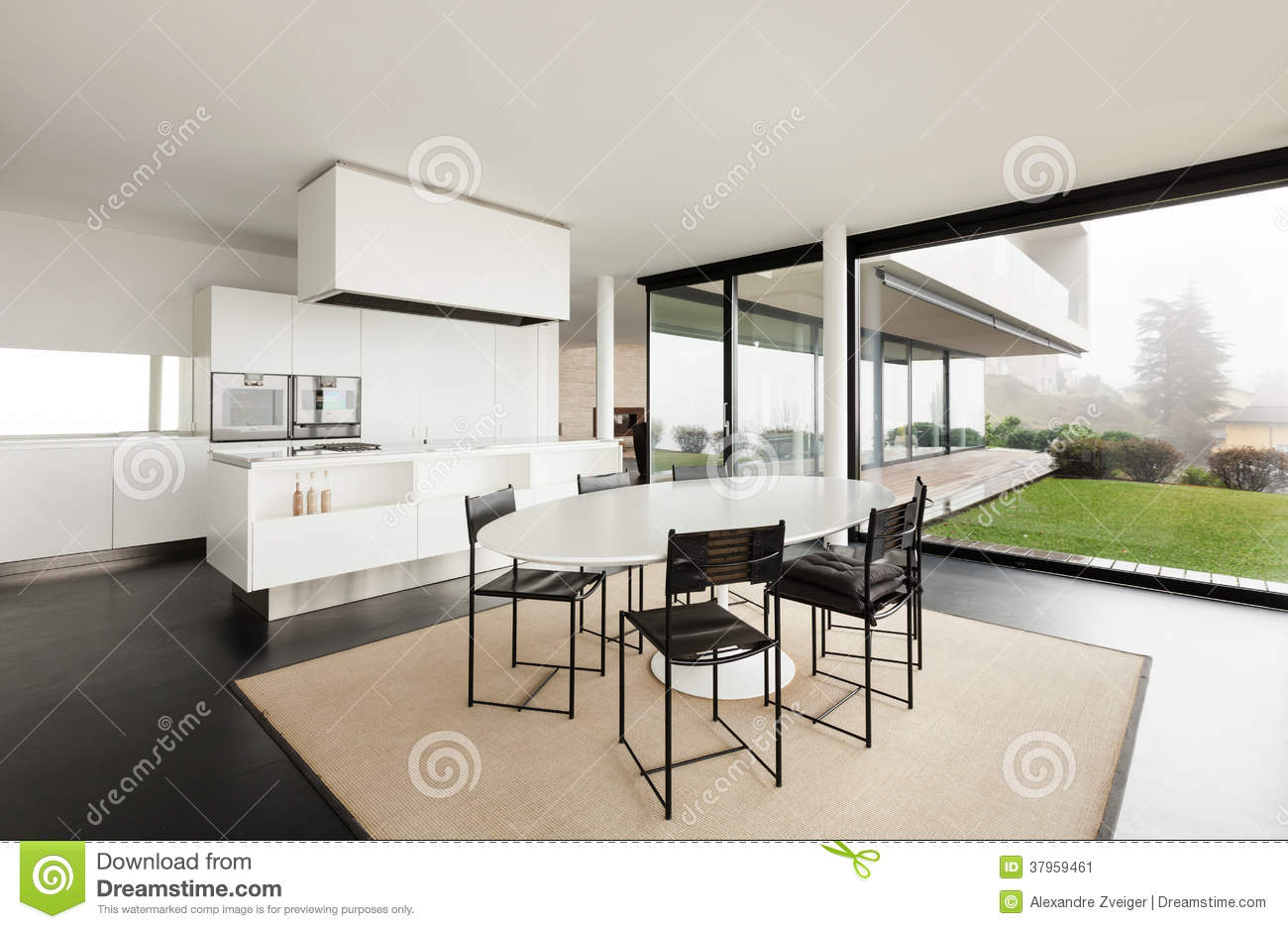 Architecture int rieur d 39 une villa moderne image stock for Deco interieur villa