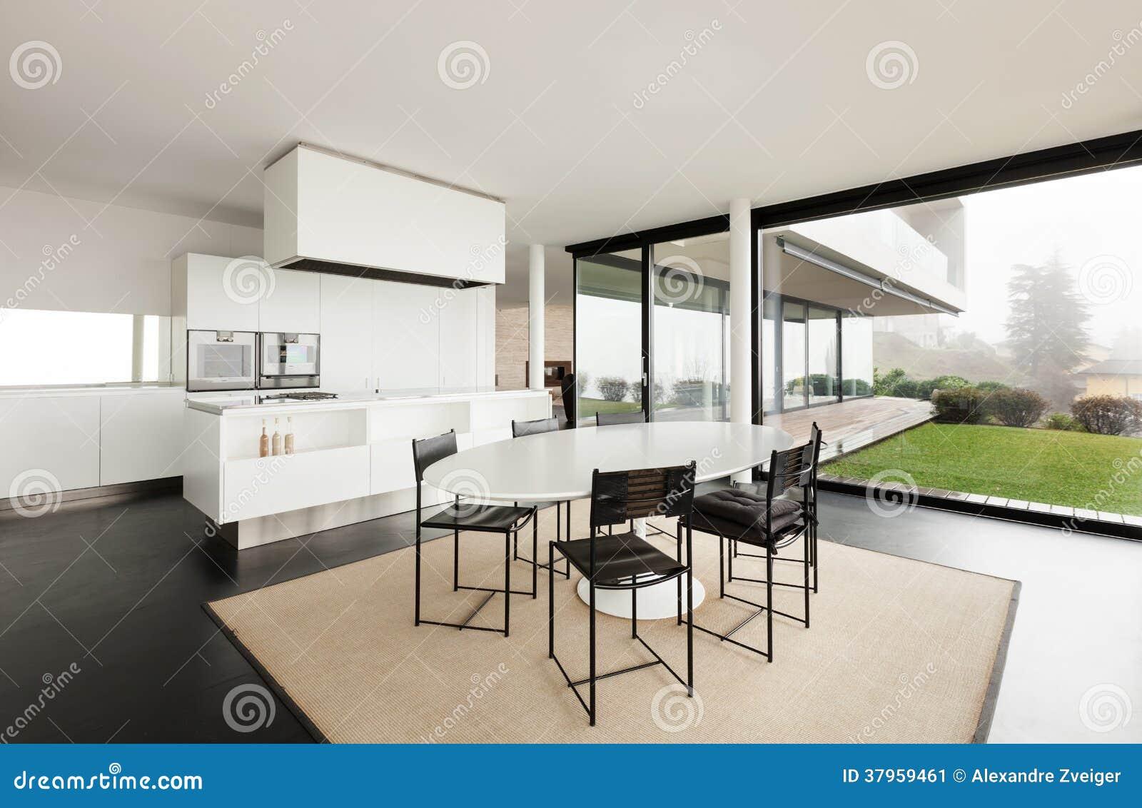 Indian kitchen interior design photos - Architecture Int 233 Rieur D Une Villa Moderne Image Stock