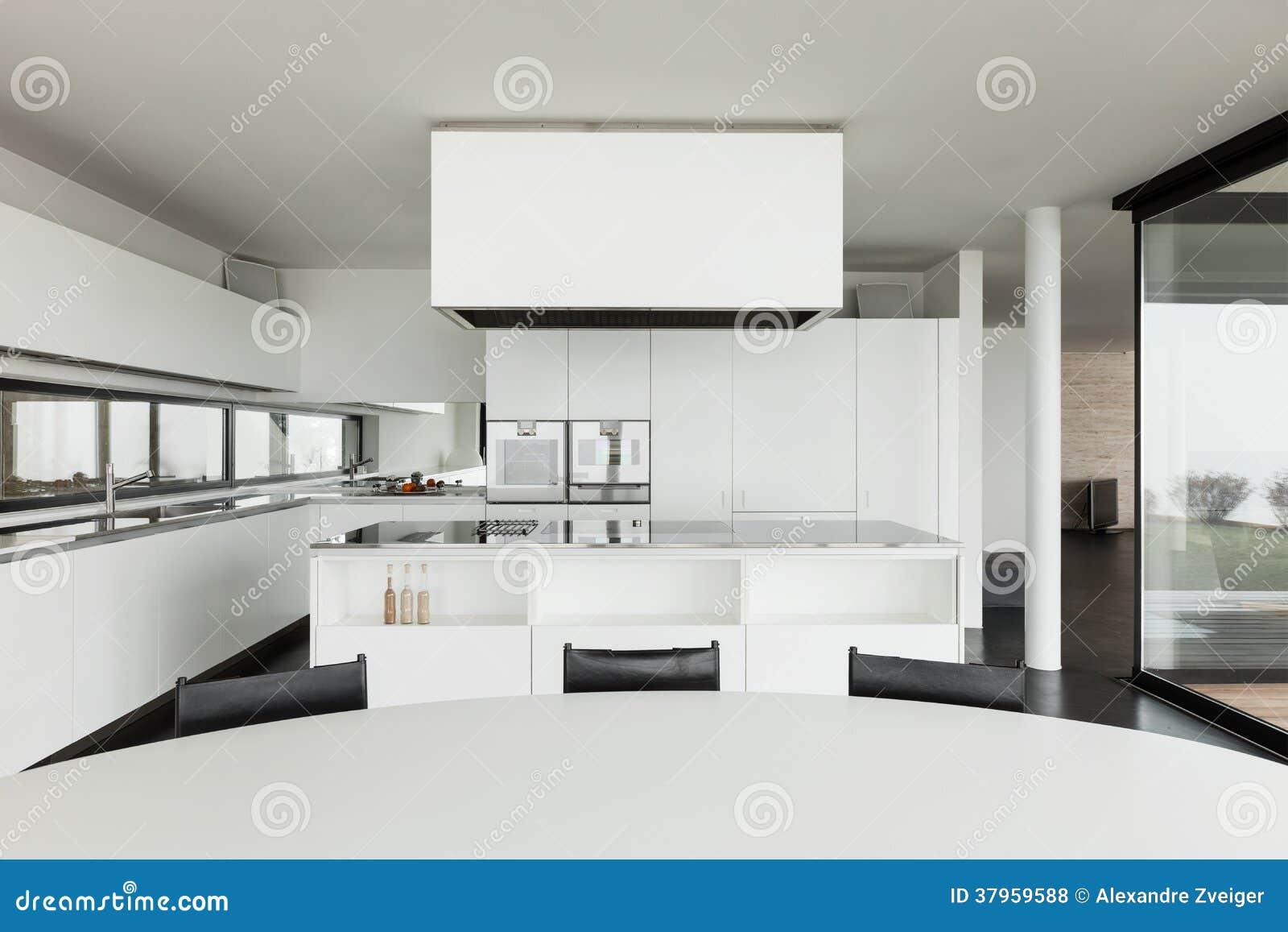 Architecture bel intérieur dune villa moderne cuisine domestique