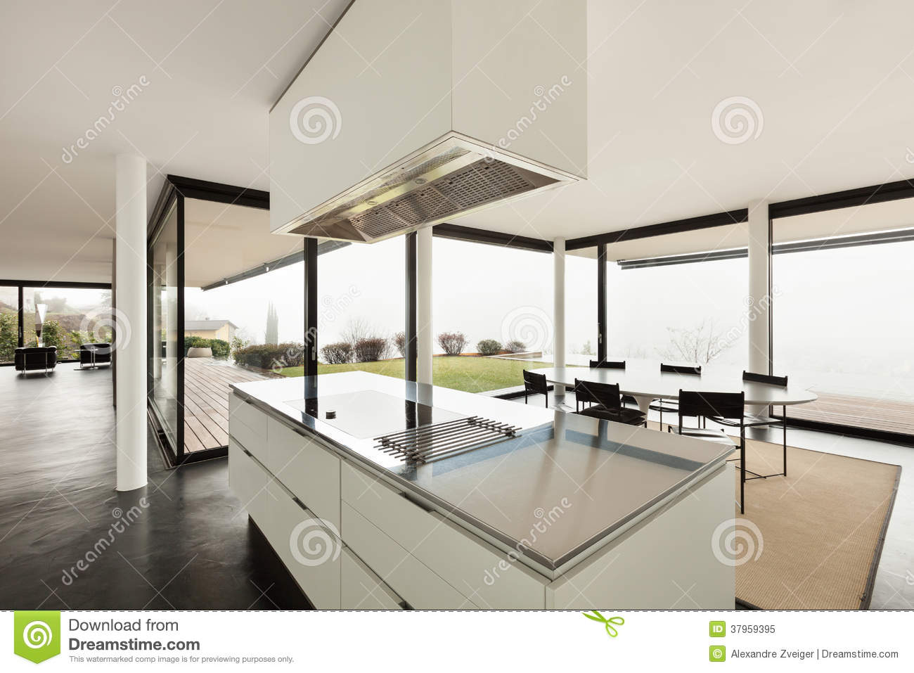Architecture, Interior Of A Modern Villa Stock Image - Image of ...