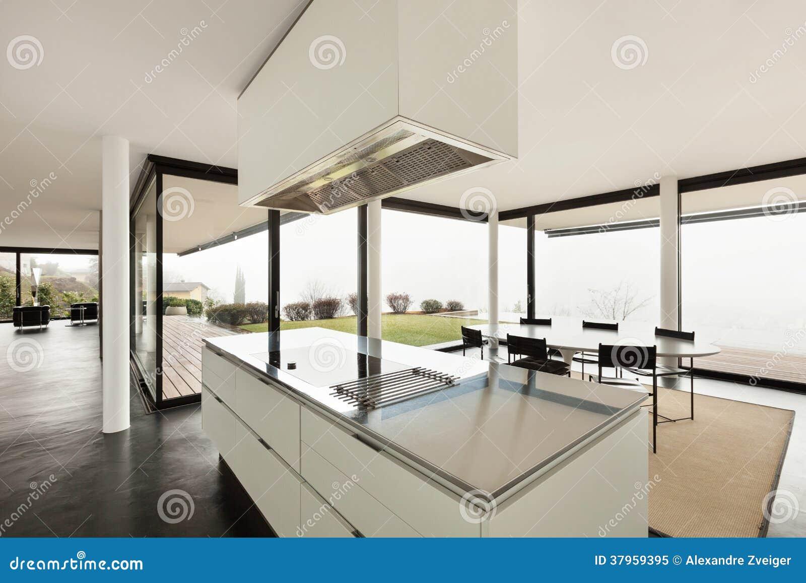architecture int rieur d 39 une villa moderne photo libre de droits image 37959395. Black Bedroom Furniture Sets. Home Design Ideas