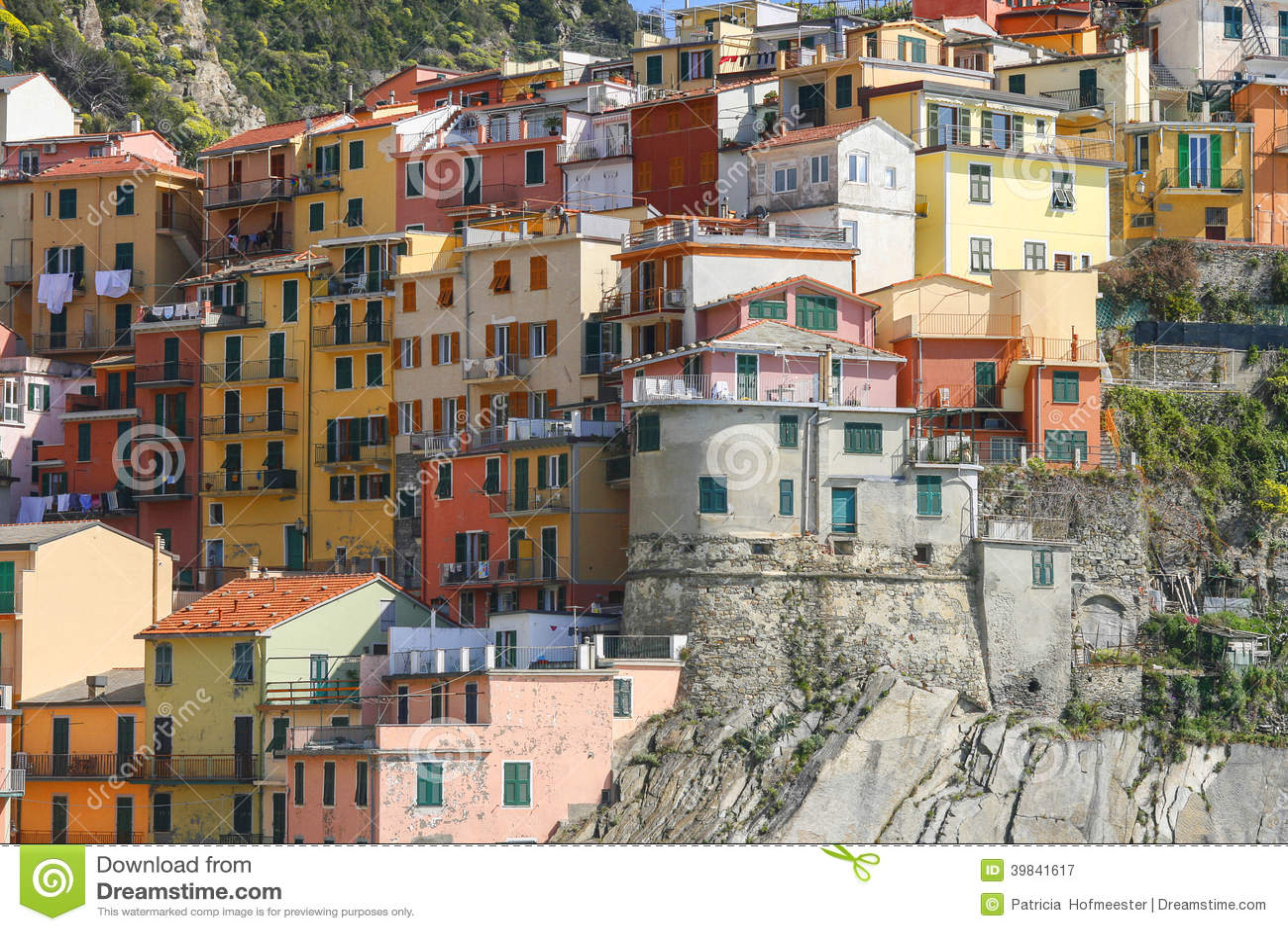 Architecture italienne colorée