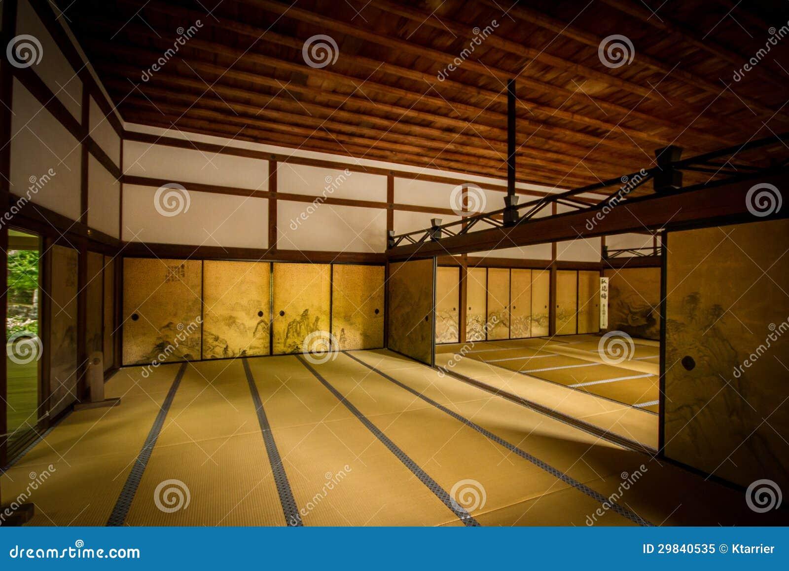 Int rieur de pi ce japonaise antique photo libre de droits for Architecture japonaise traditionnelle