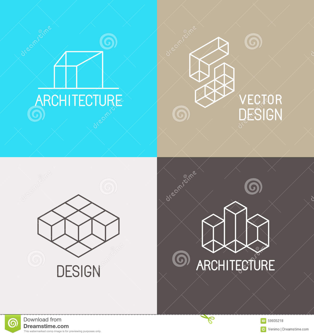 79 interior architecture logo geometric infinity square Architecture firm for sale