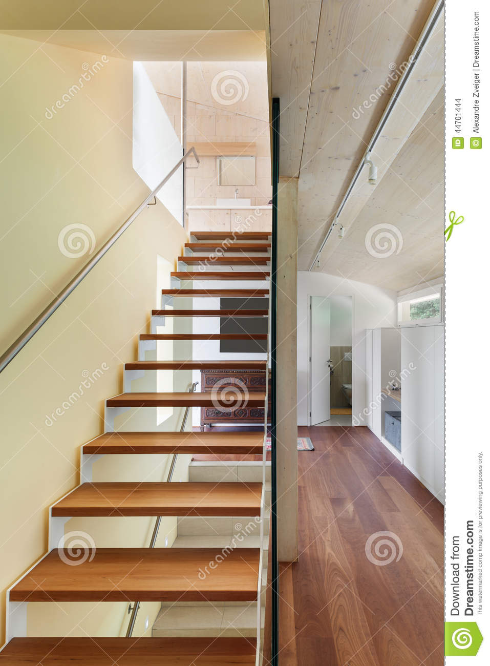 Architecture moderne int rieur escalier photo stock for Escalier interieur moderne