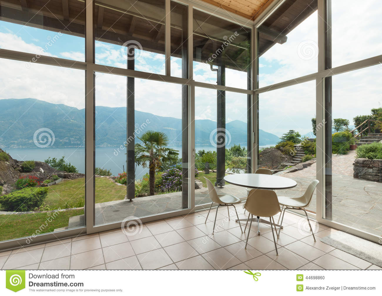 Architecture moderne int rieur v randa photo stock for Interieur veranda