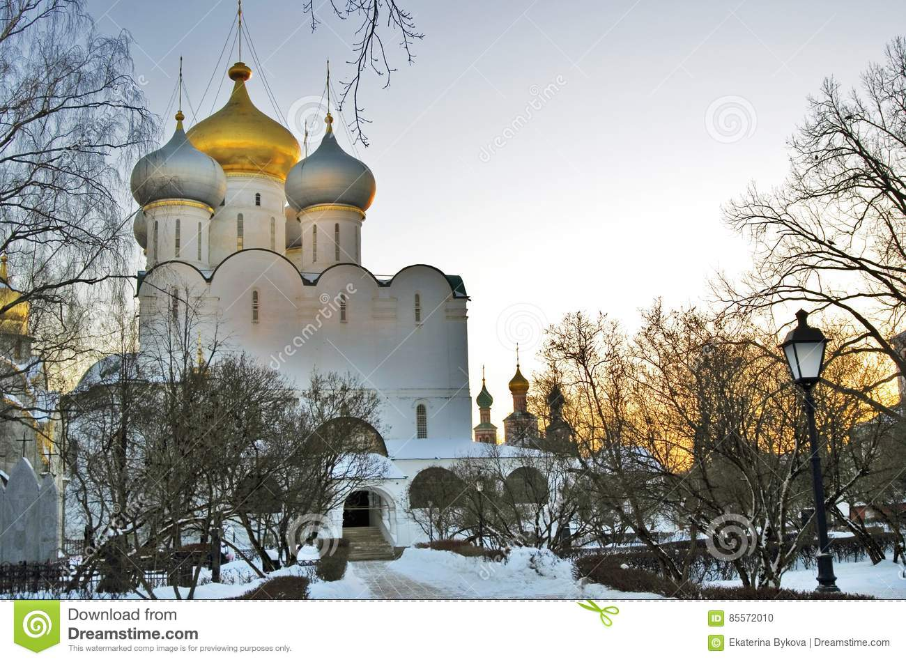 Download Architecture Of Novodevichy Convent In Moscow. Smolensk Icon Church Stock Photo - Image of eastern, cross: 85572010