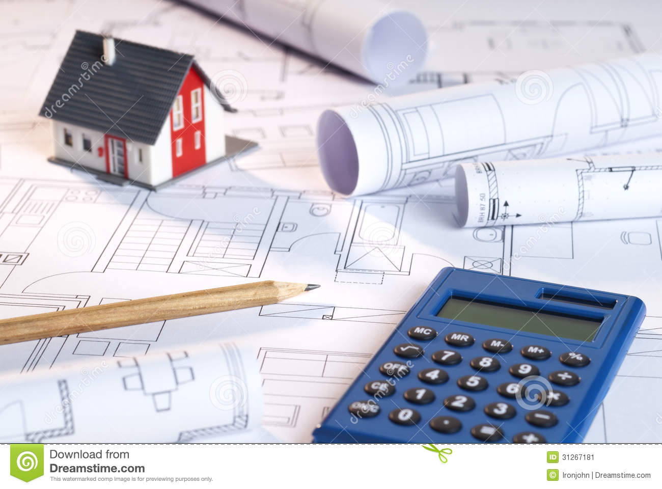 In the architectural firm stock image image 31267181 for Blueprint estimator