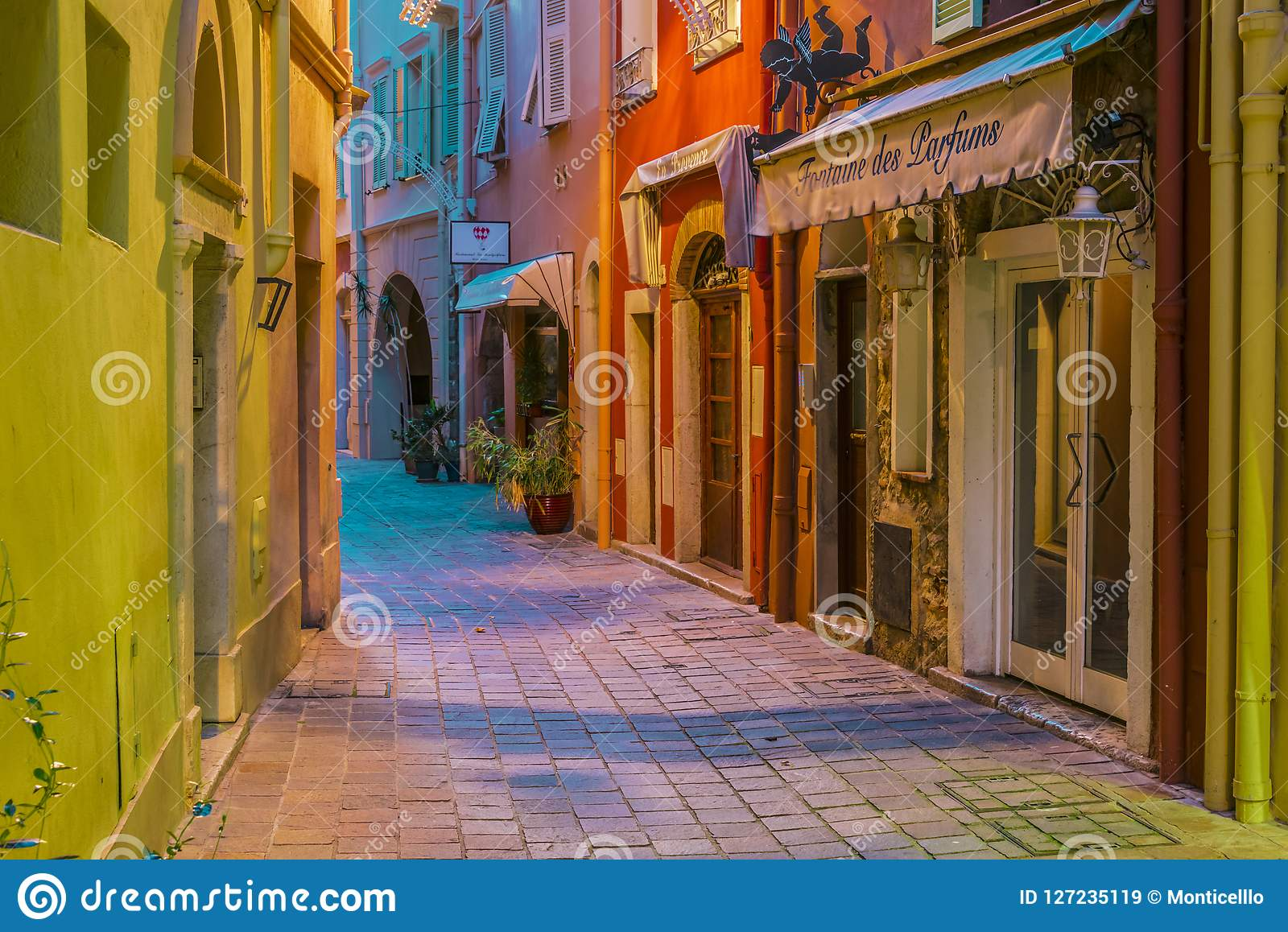 Architecture Of The Old Town Of Monaco On French Riviera