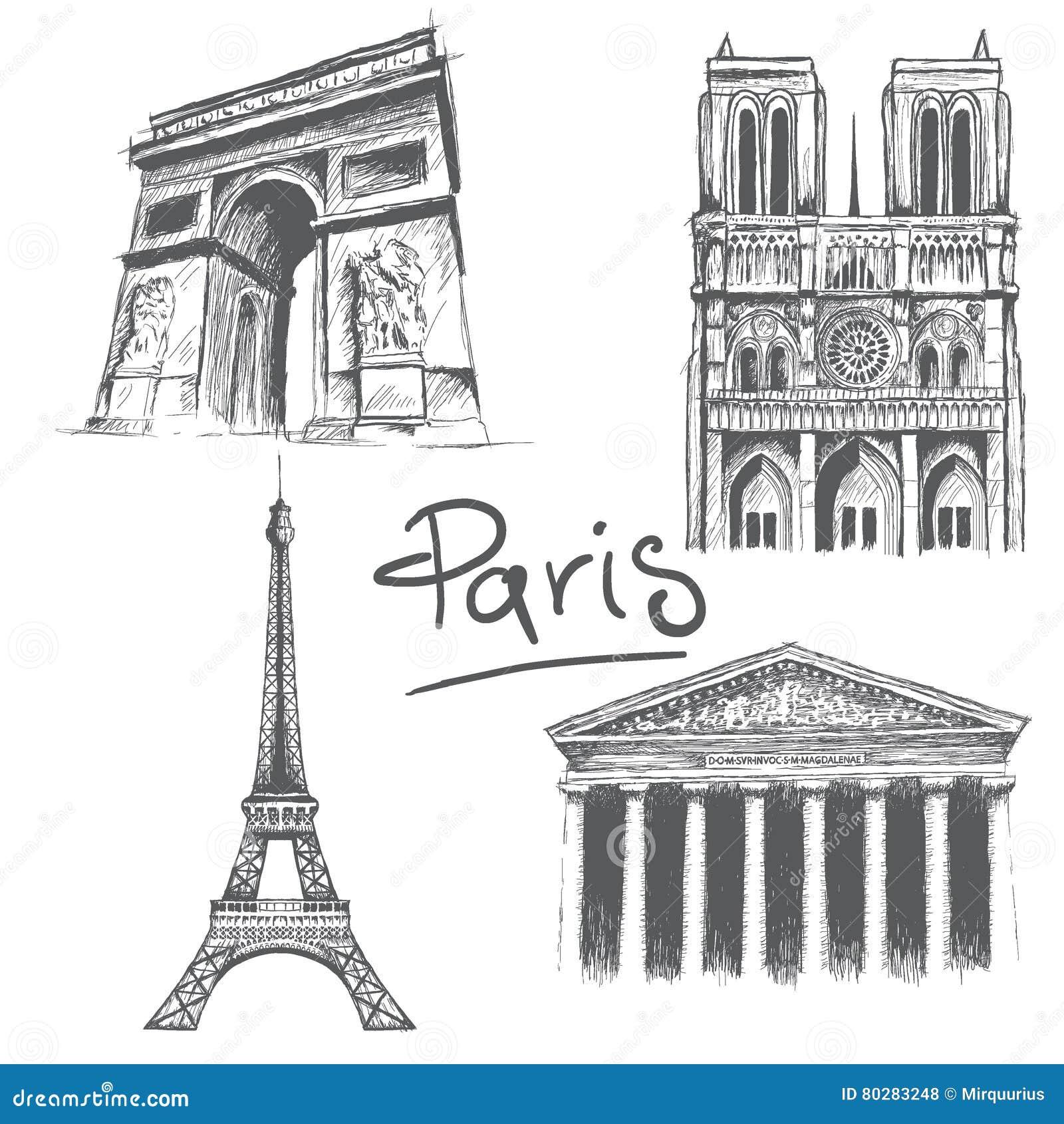 Architecture parisienne illustration de vecteur image for Architecture parisienne