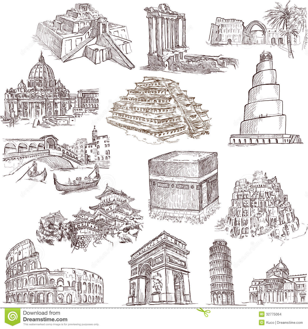 Architecture and places 2 stock vector. Image of orient ...