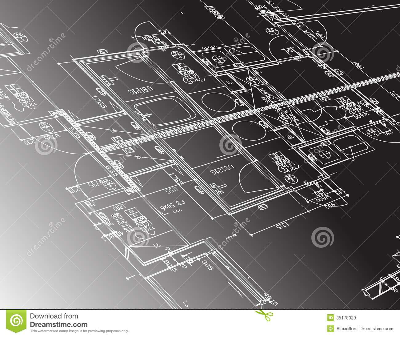 Architecture plan guide illustration design royalty free Blueprint designer free