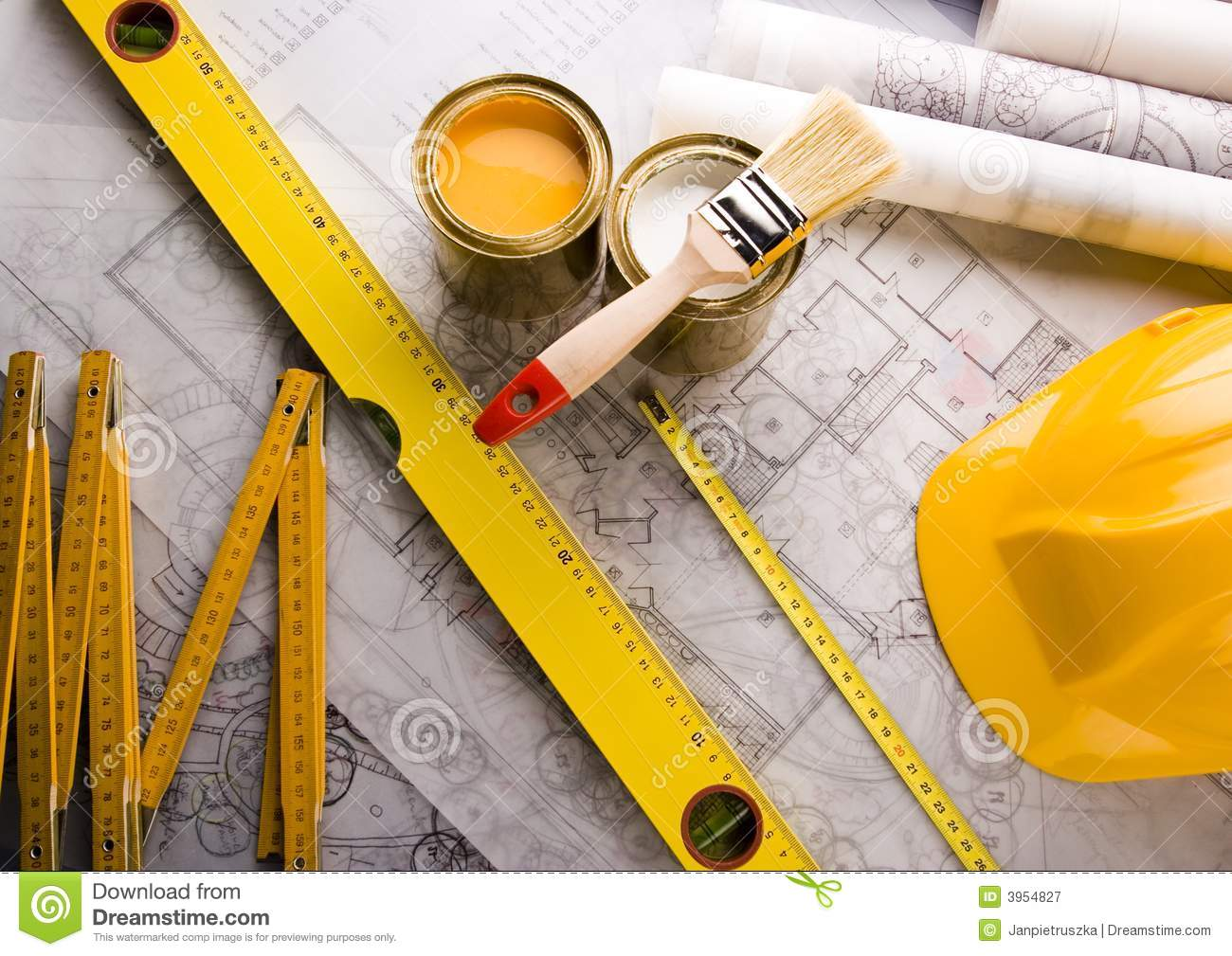 architecture plan tools royalty stock photography image architecture plan tools