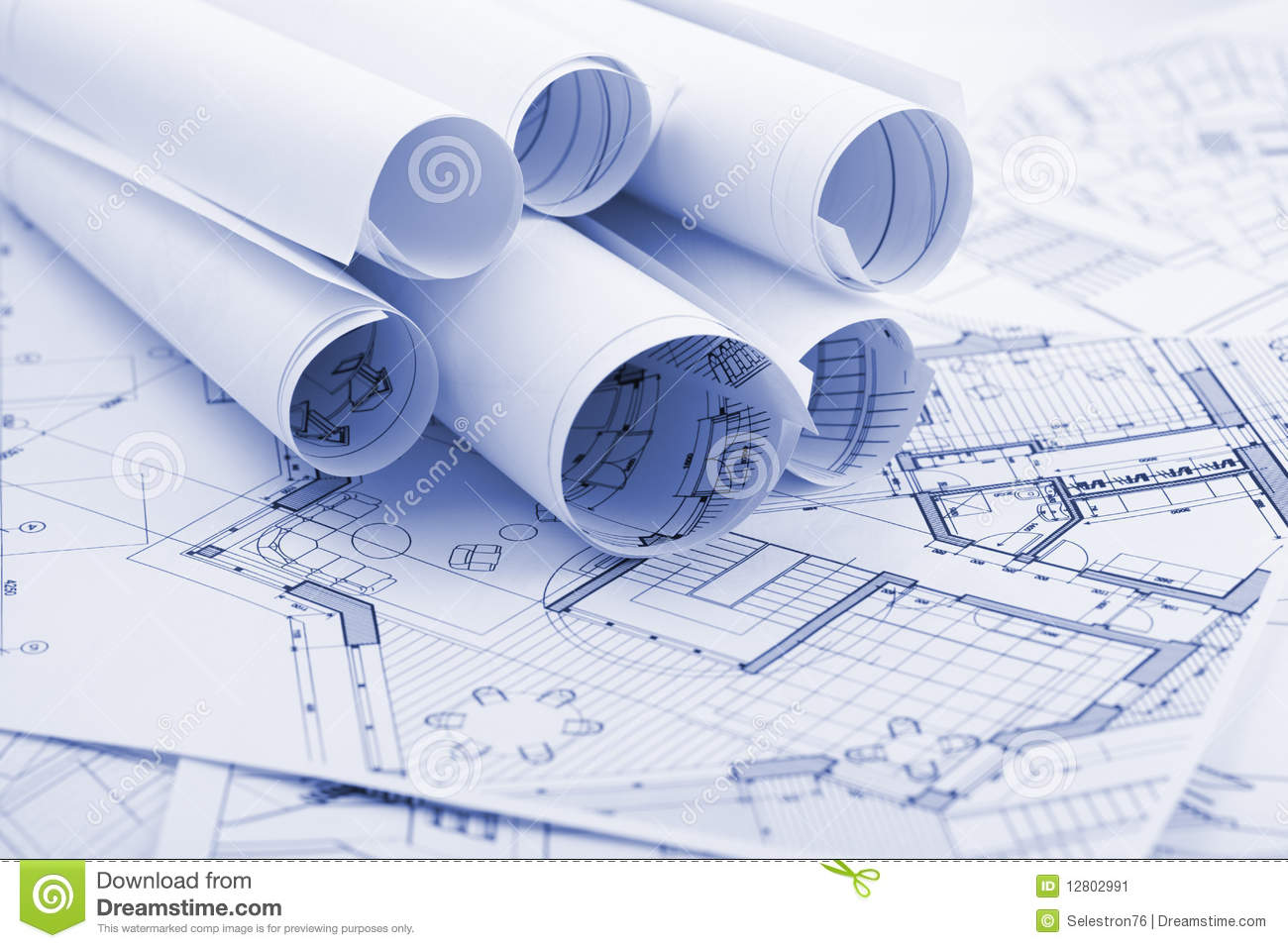 Architecture Plans Stock Image Image 12802991