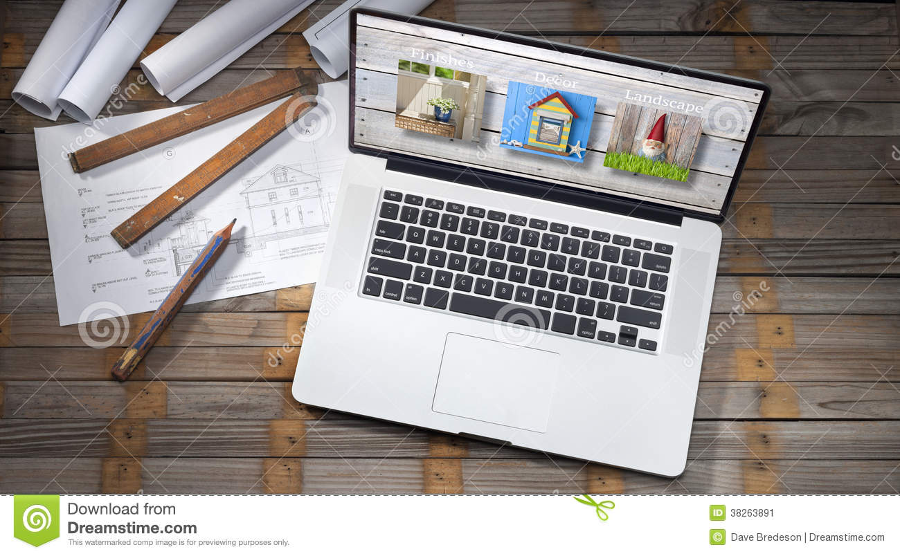 Download Architecture Plans Computer Business Stock Image - Image of design, building: 38263891