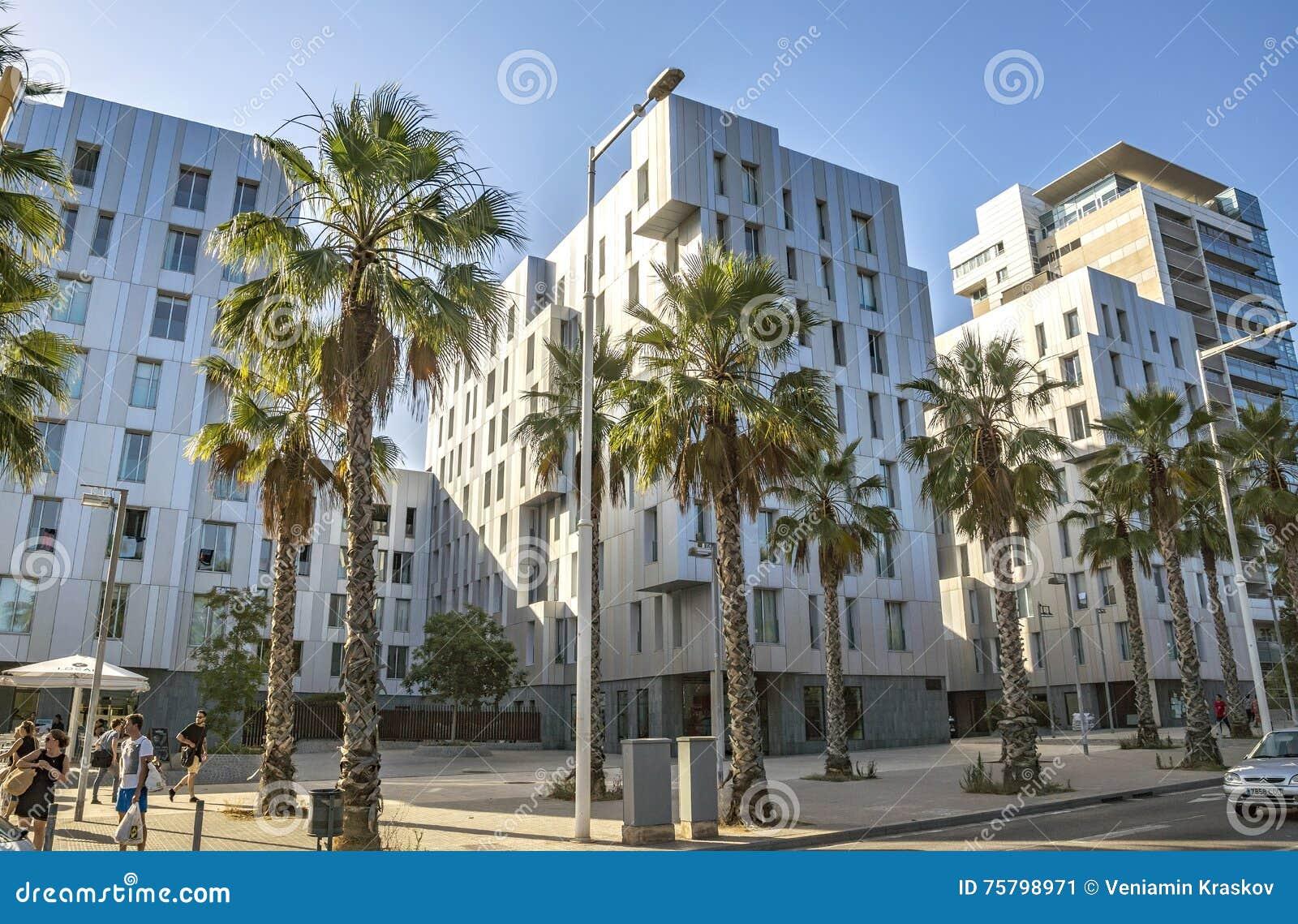 Architecture Poblenou district in Barcelona