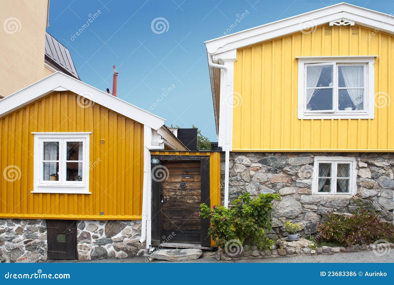 Architecture scandinave image libre de droits image for Architecture traditionnelle scandinave