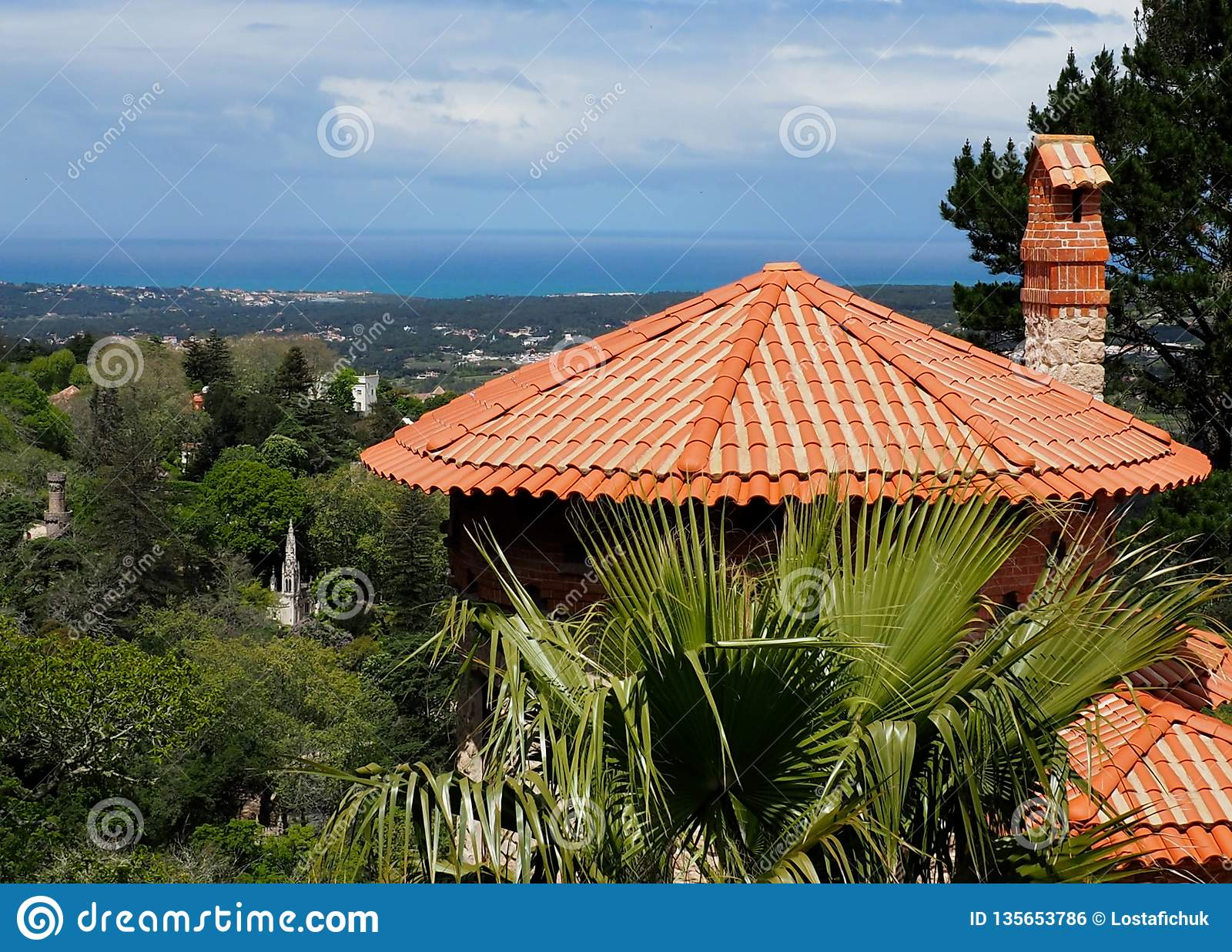 Architecture In Sintra Portugal Red Clay Tiled Roof