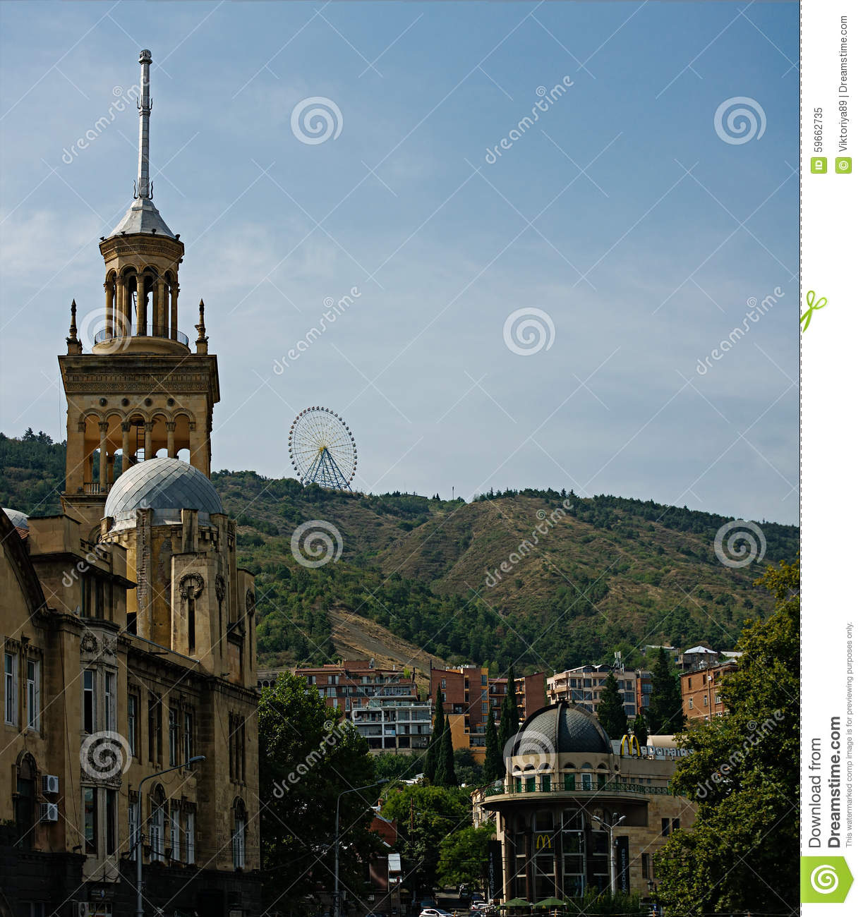 Architecture Of Tbilisi Editorial Image Image 59662735