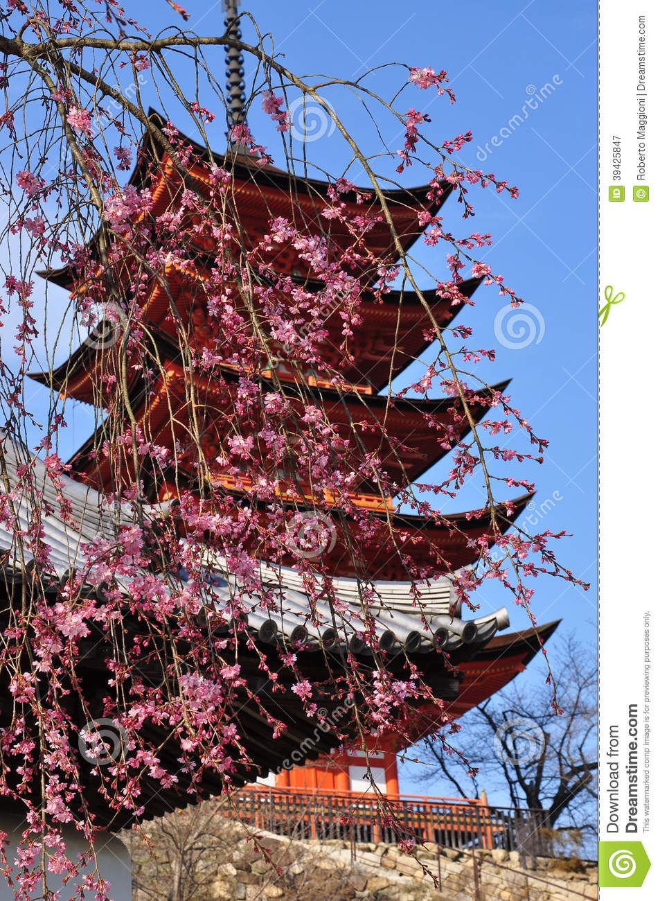architecture traditionnelle japonaise pagoda photo stock
