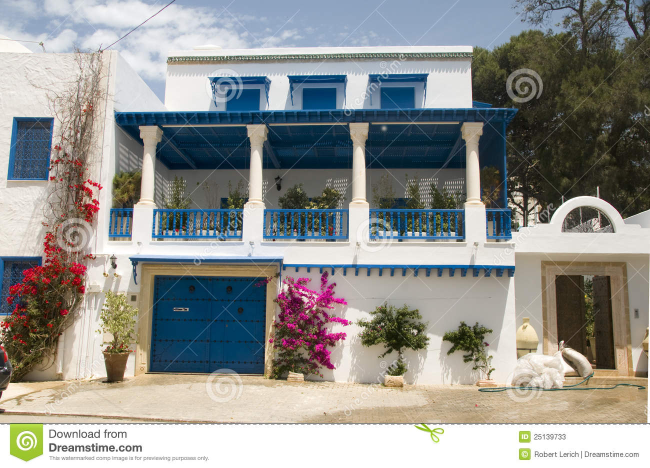 Architecture Tunisia Africa Sidi Bou Said Stock Image   Image Of Typical,  Residence: 25139733