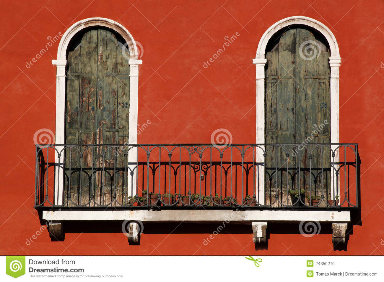 Architecture in venice with balcony italy stock photo for Balcony in italian