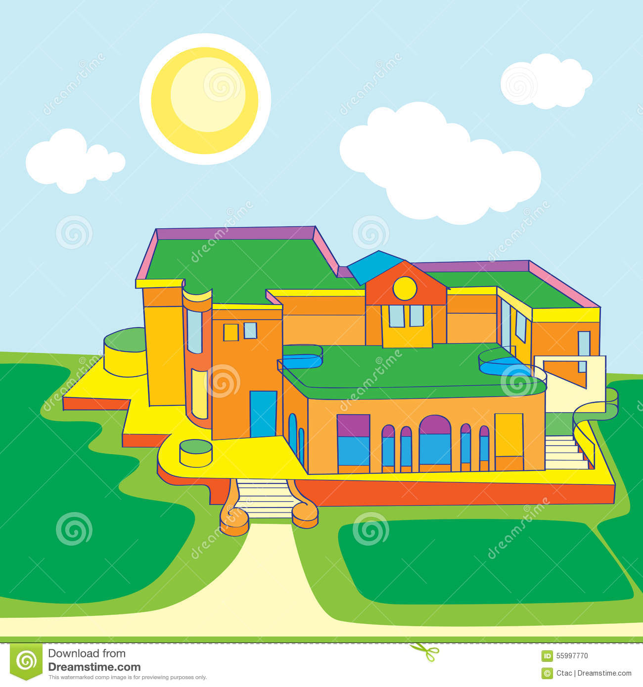Architecture View Stock Vector Illustration Of Architectural 55997770