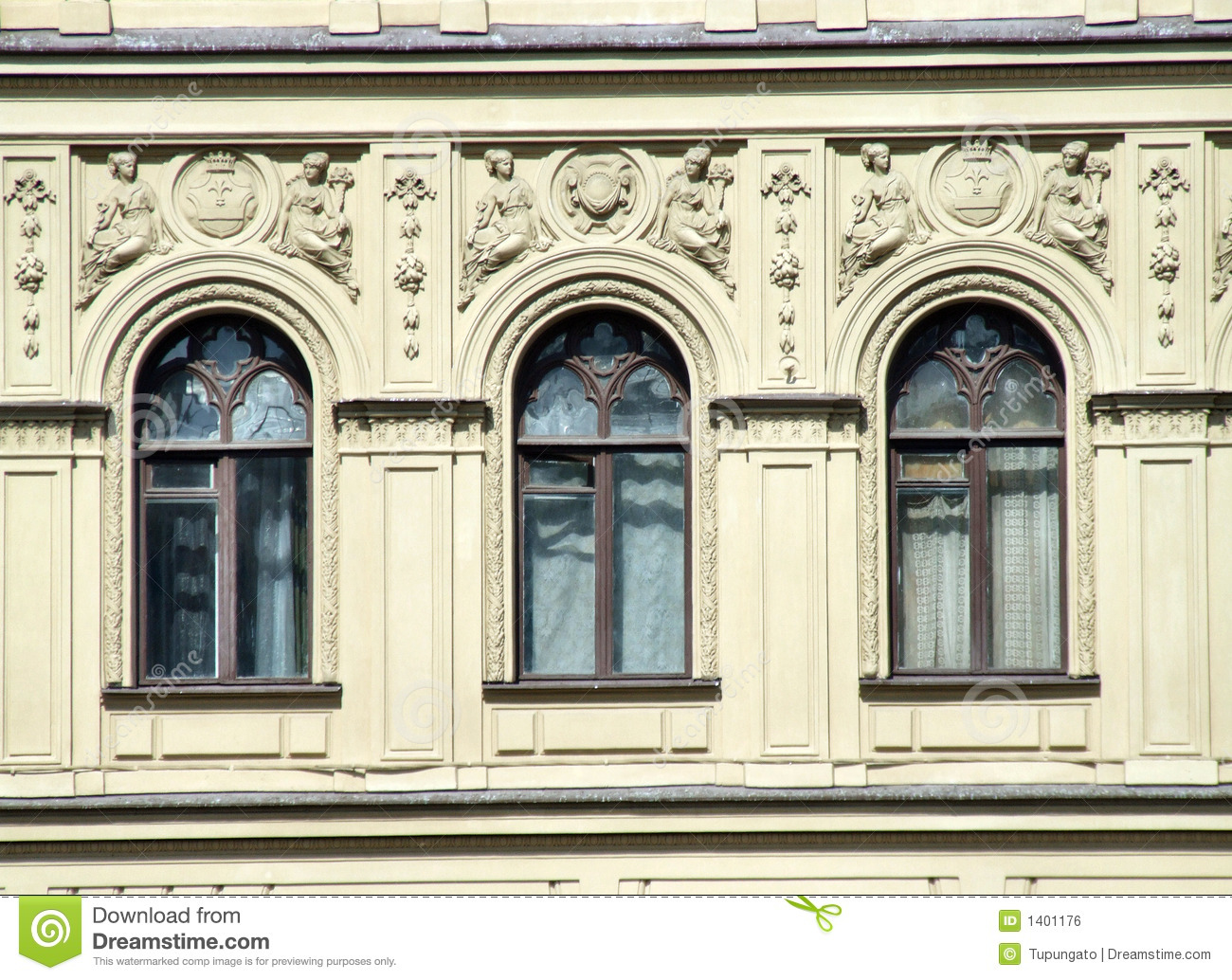 Architecture windows and decorations royalty free stock for Architecture windows