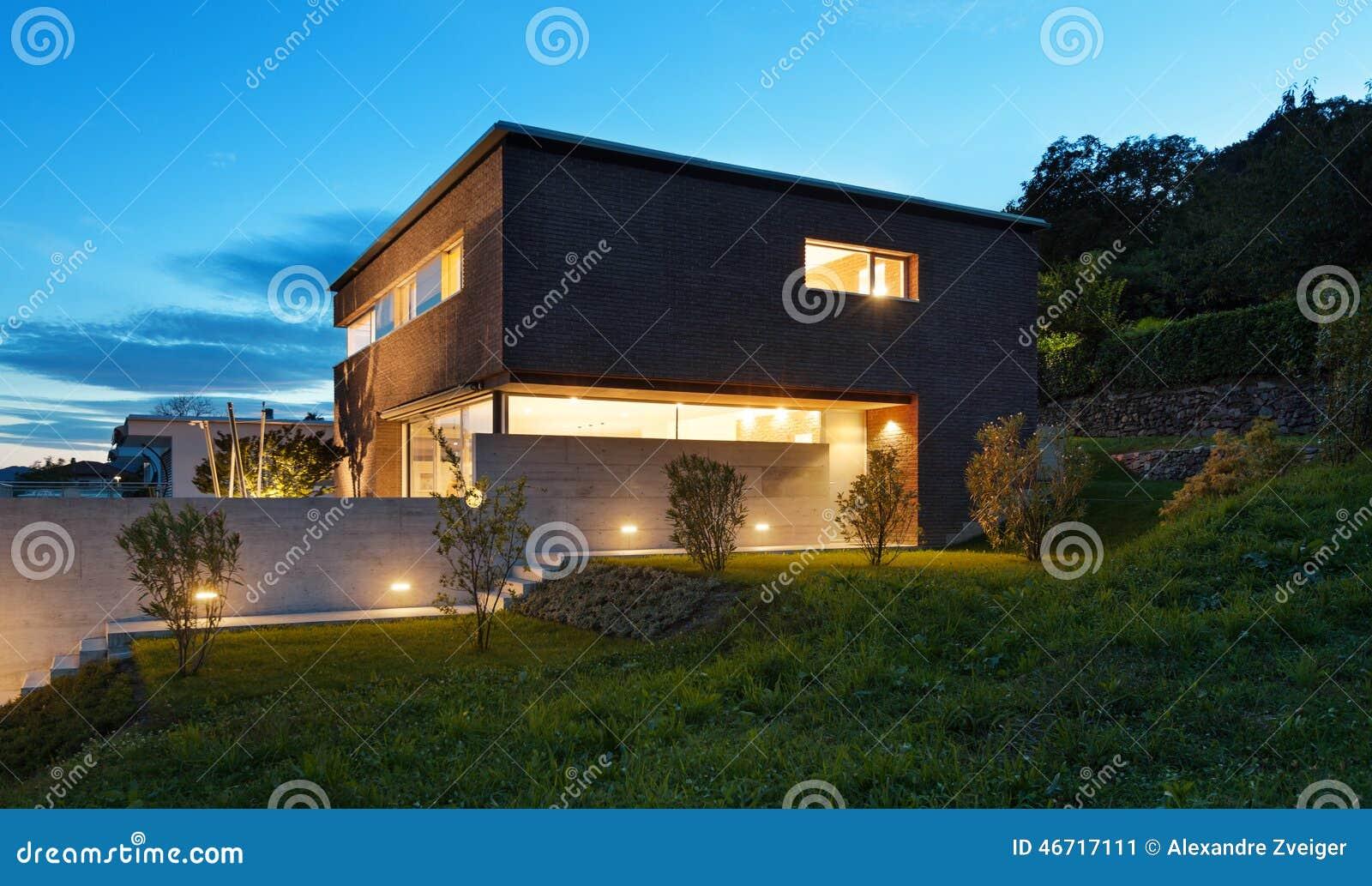 Architectuur modern ontwerp huis stock afbeelding afbeelding