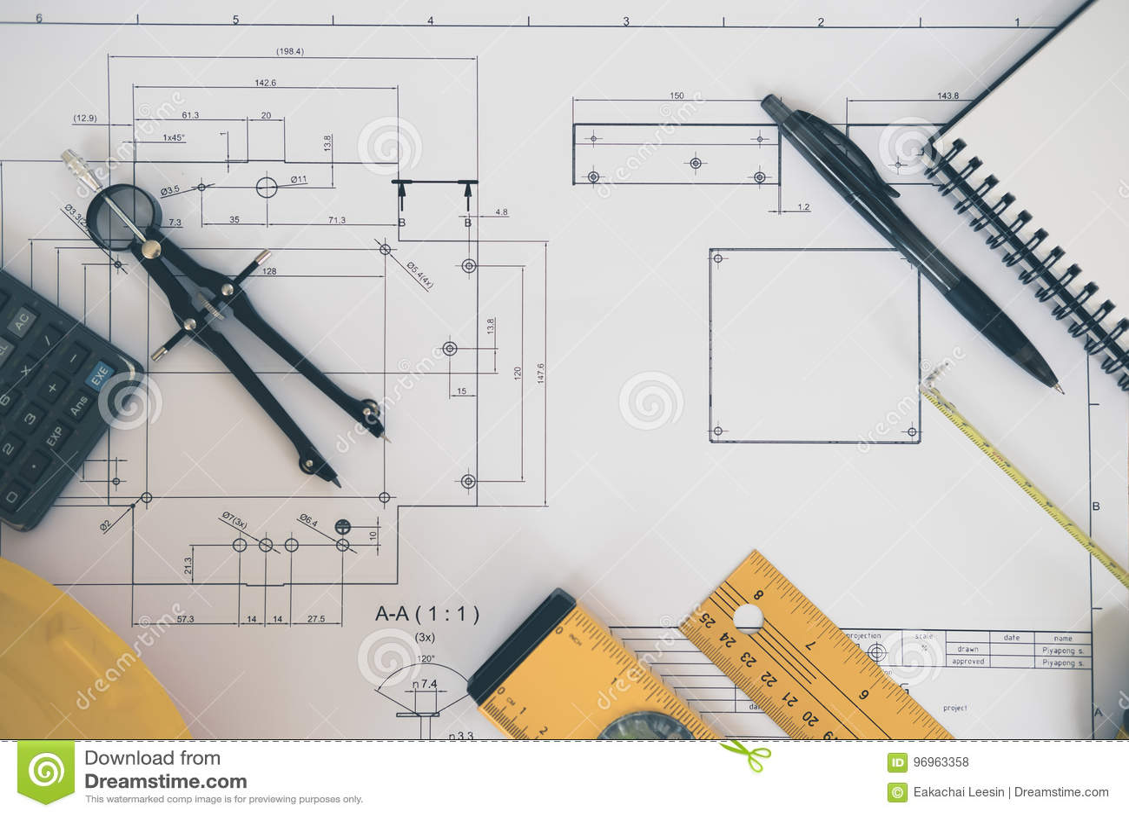 Architectuur, techniekplannen en tekeningsmateriaal
