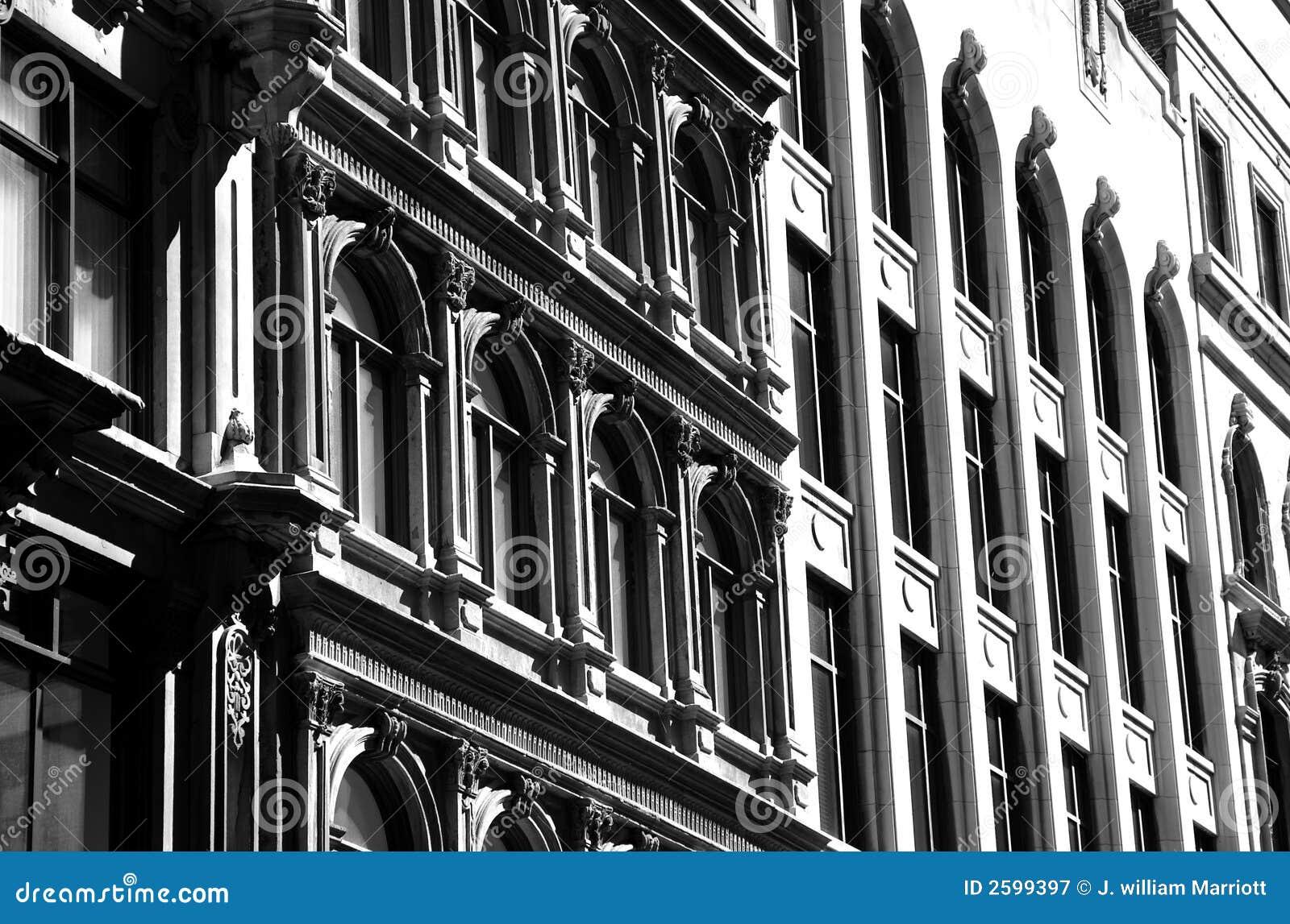 Architectuur van Oud Montreal