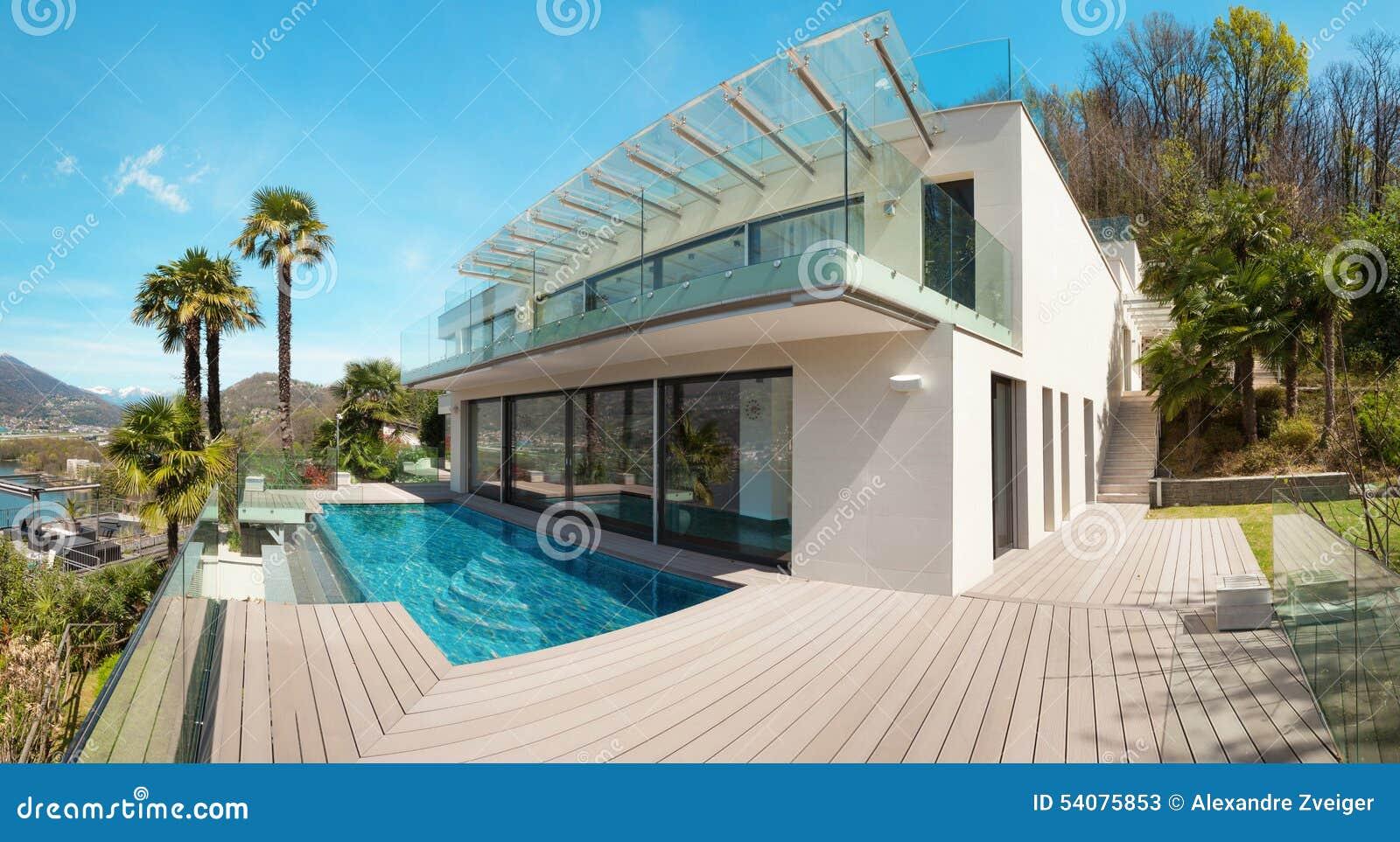 Architectuur, wit huis, openlucht