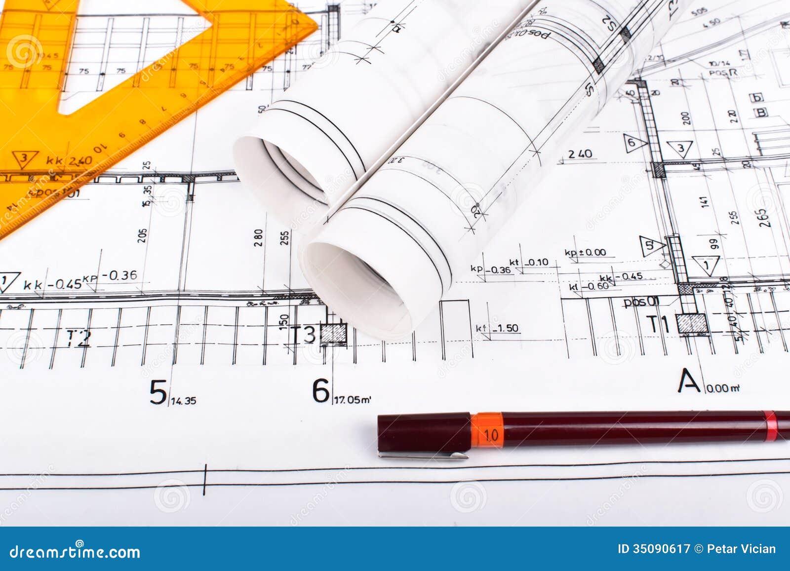 Architektów plany i rolki