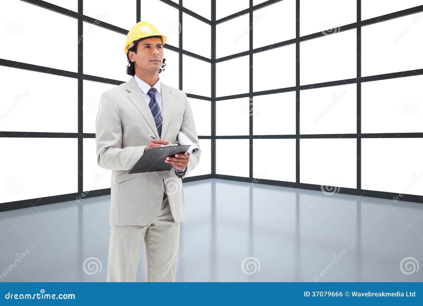 Download Architekt bierze notatki ilustracji. Ilustracja złożonej z dezerter - 37079666