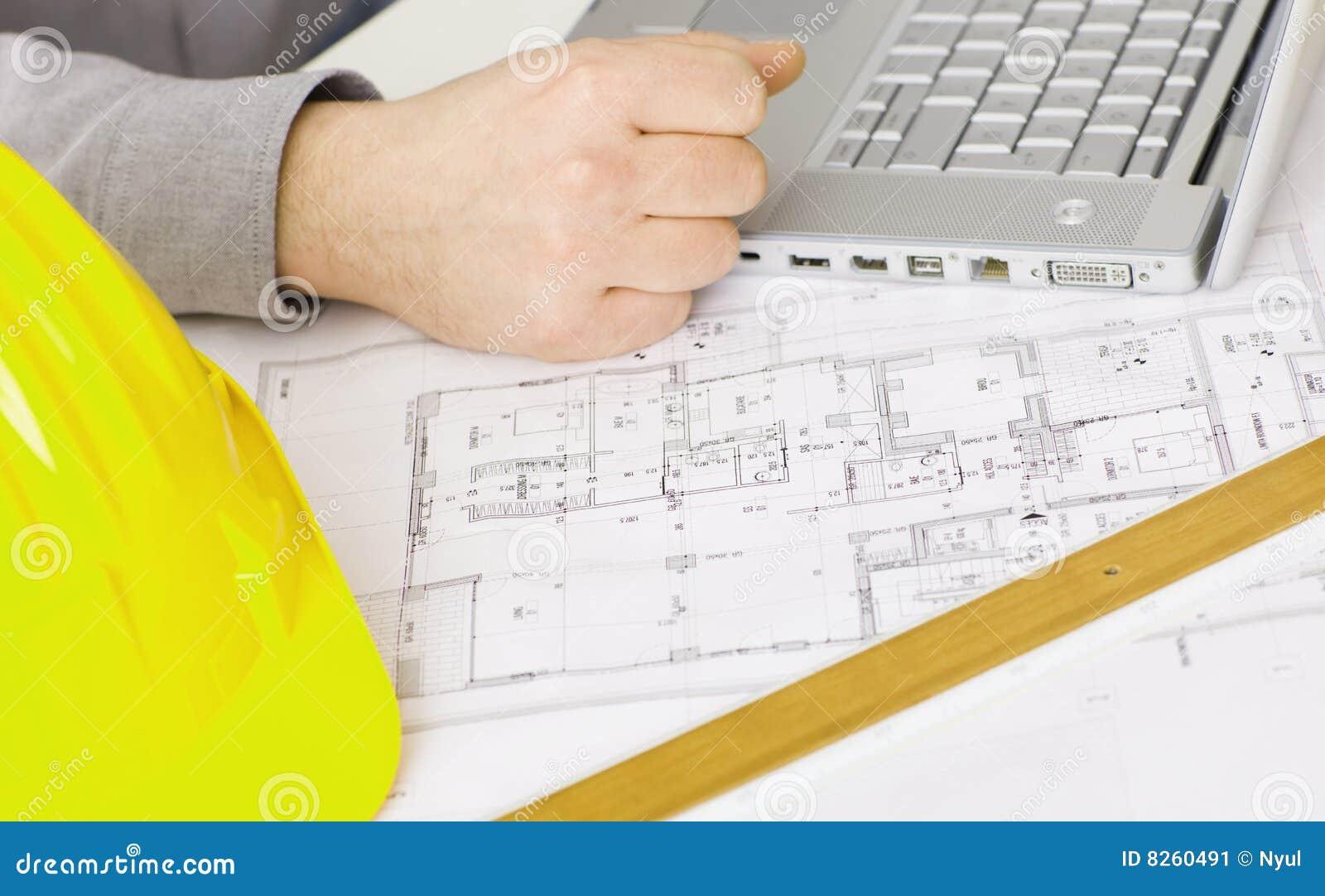 Architekta biurka podłogowy plan s