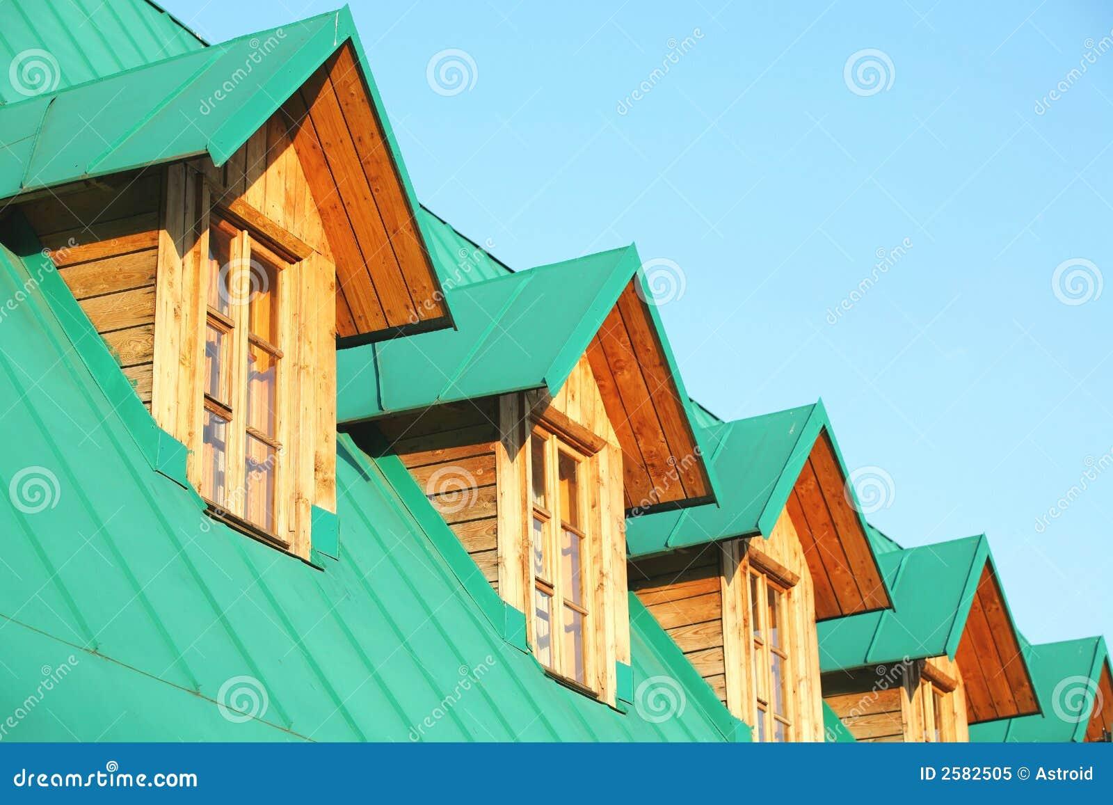 Architektur gr ne mansarde lizenzfreies stockfoto bild 2582505 - Grune architektur ...