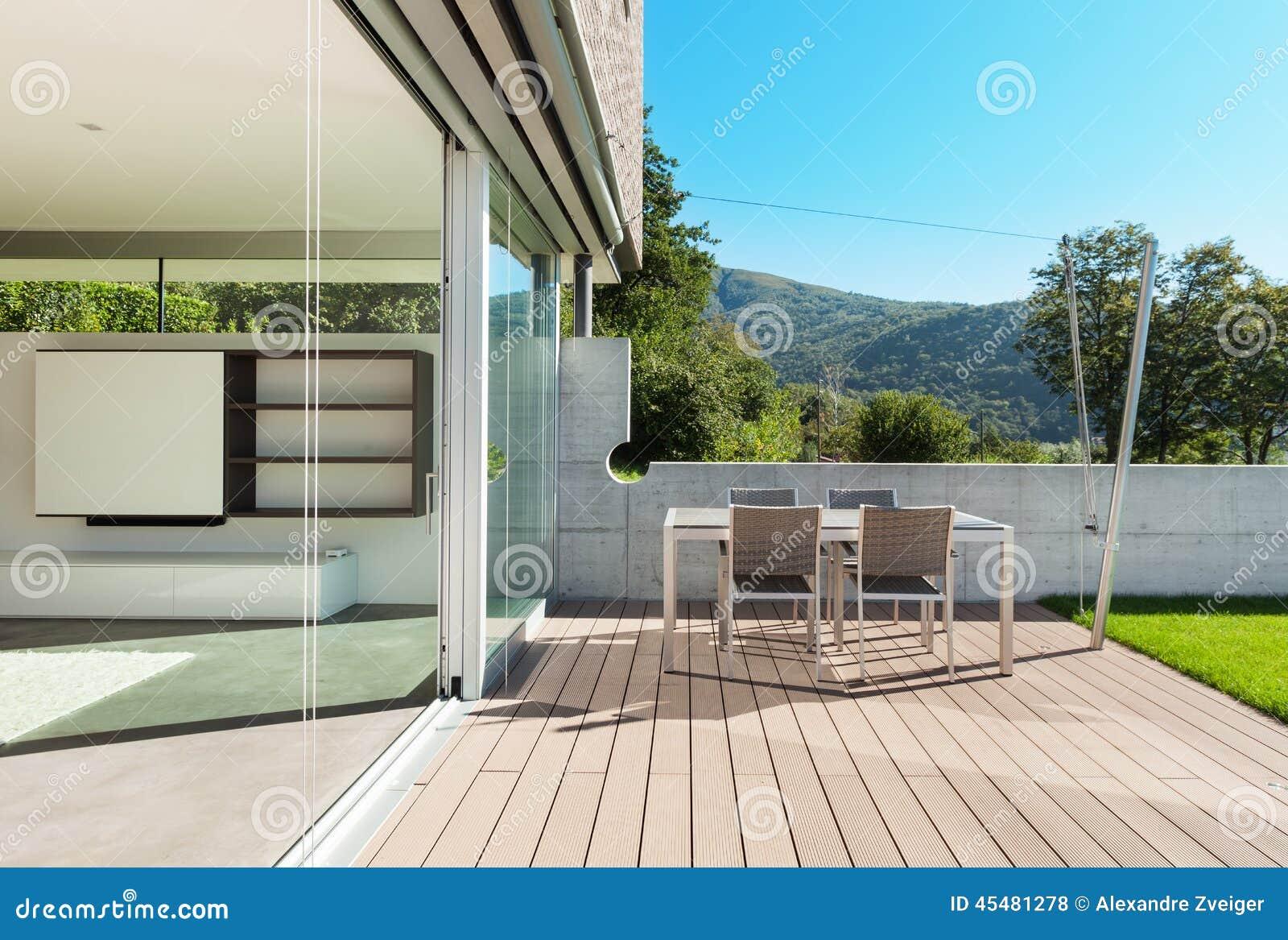 Architektur, Modernes Haus, Im Freien Stockfoto - Bild von raum ...