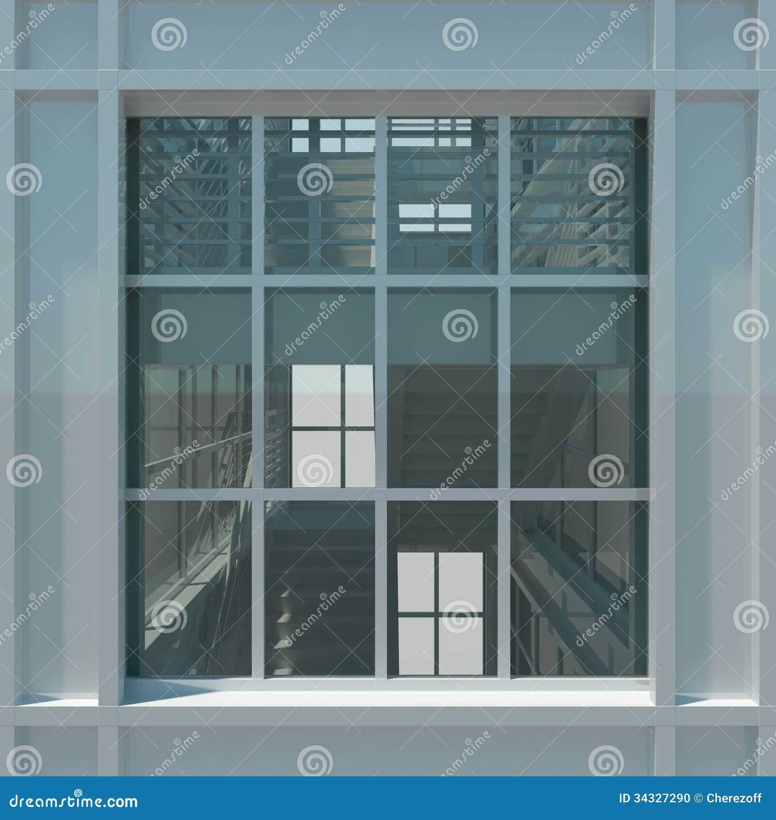 Treppenhaus architektur  Architektur: Treppenhaus Und Fenster Stock Abbildung - Illustration ...